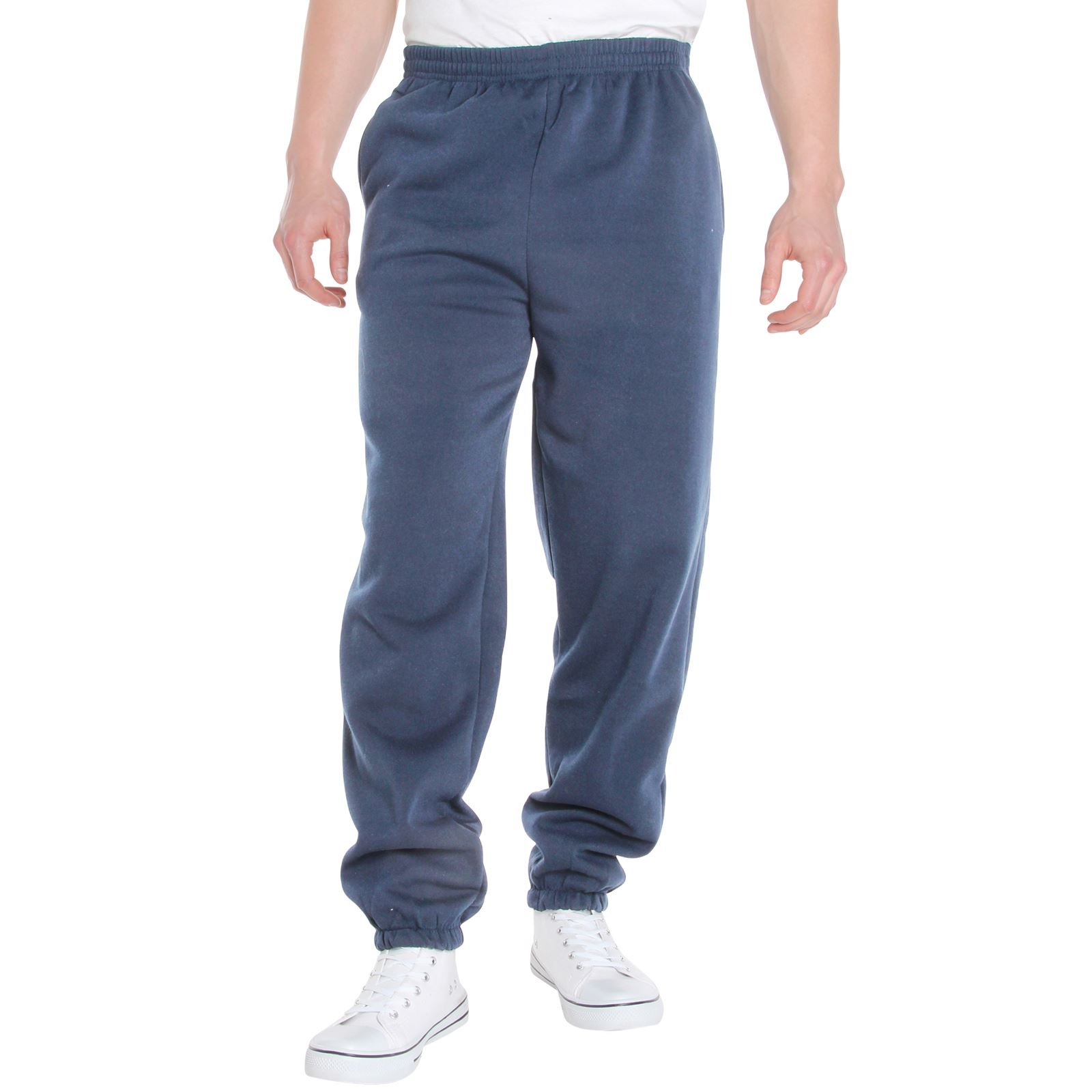 Mens-Tracksuit-Bottoms-Striped-Joggers-Jogging-Trousers-Fleece-Pants-Casual-Work thumbnail 11