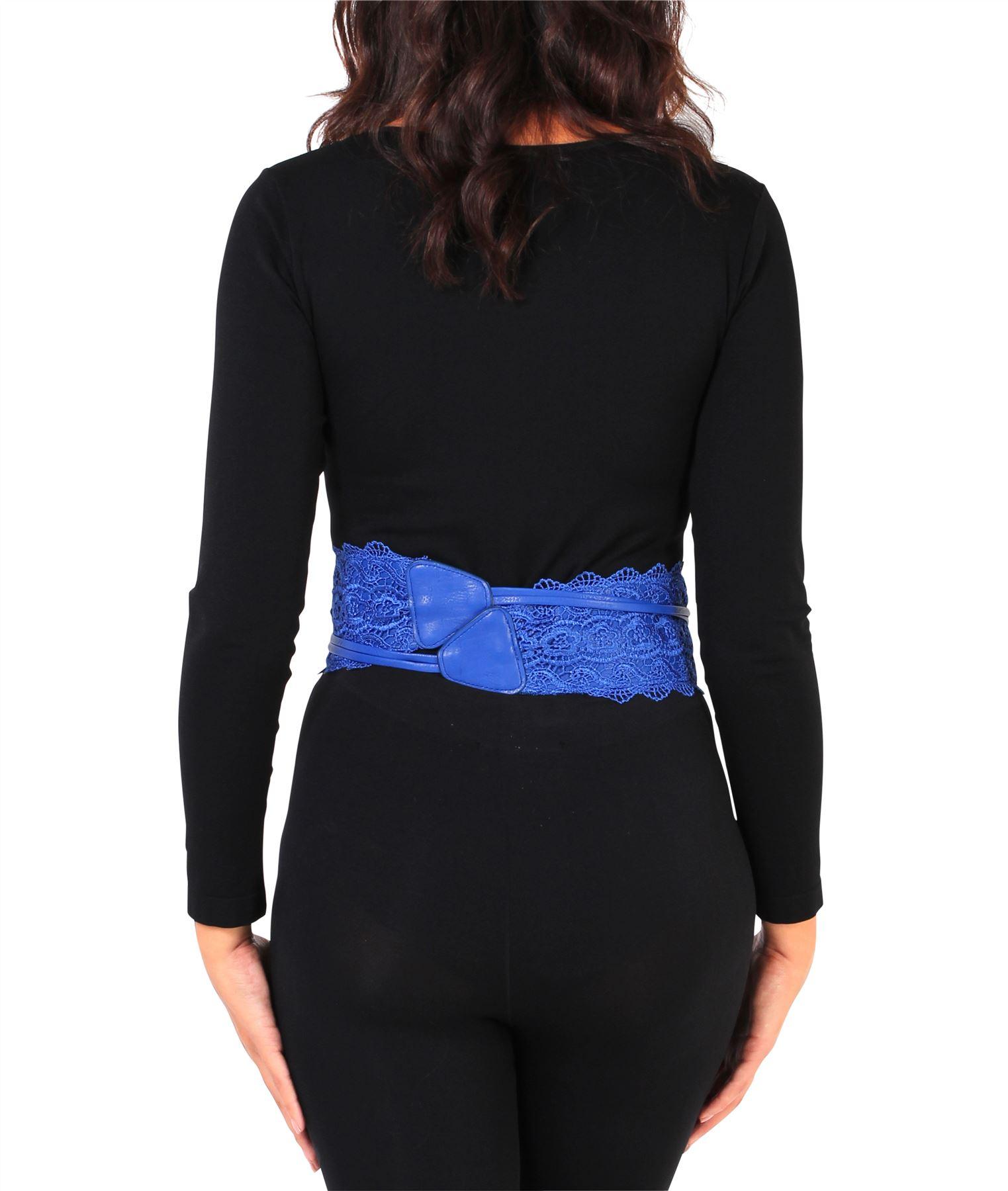 thumbnail 53 - Womens-Ladies-Wide-Waist-Belt-Floral-Waistband-Pattern-Band-Crochet-Lace-Corset