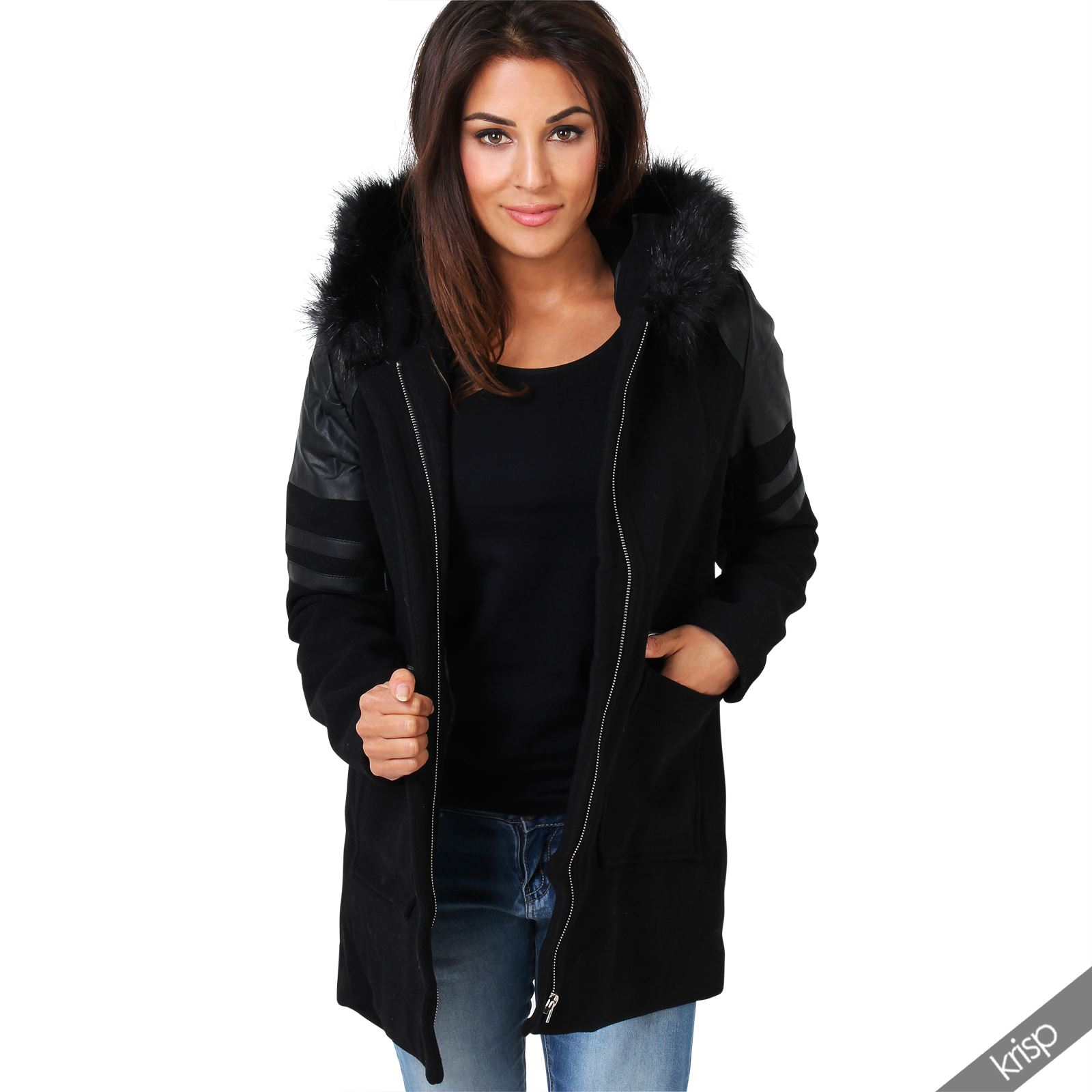 nouveau concept 24990 a792a manteau laine femme avec capuche fourrure,Manteau trap猫ze ...