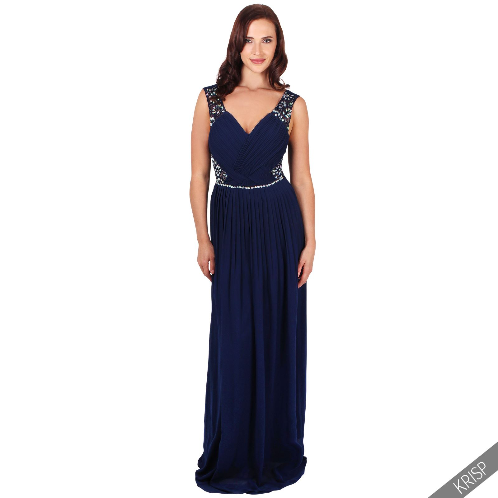 Ladies Formal Long Prom Maxi Dress Evening Ball Gown Bridesmaid ...