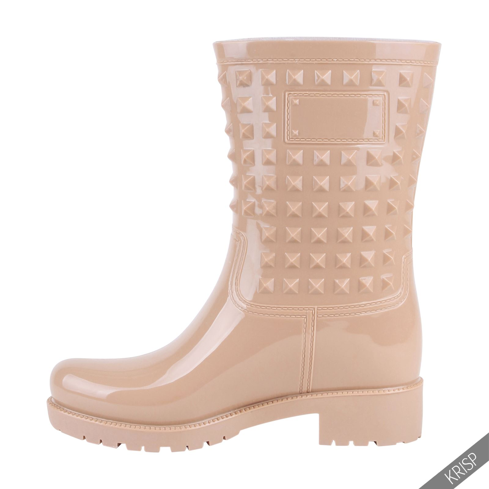 Botas-Agua-Mujer-Barata-Original-Botines-Moda-Comodas-Calzado-Elastico-Juveniles miniatura 8