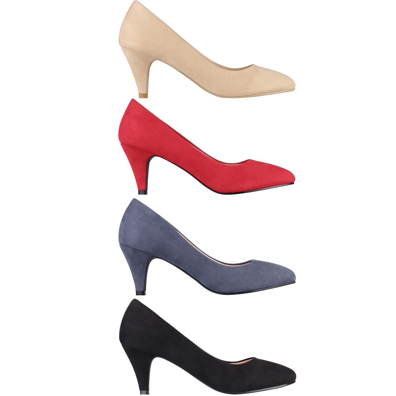 New Fashion Ladies Kitten Heels Court Shoes Work Party Office Pumps US All Size
