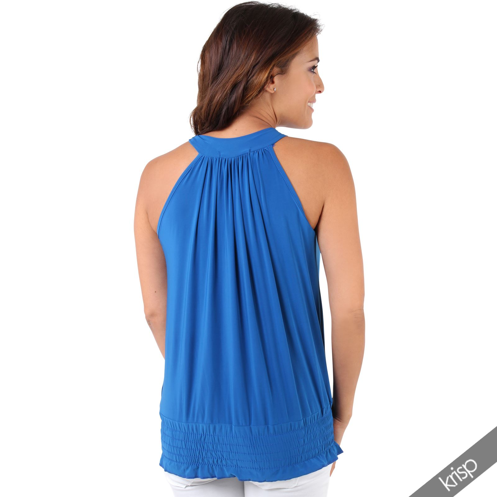 Womens-Ladies-Sleeveless-Blouse-Halter-Neck-Vest-Top-Party-T-Shirt-Plus-Size thumbnail 20