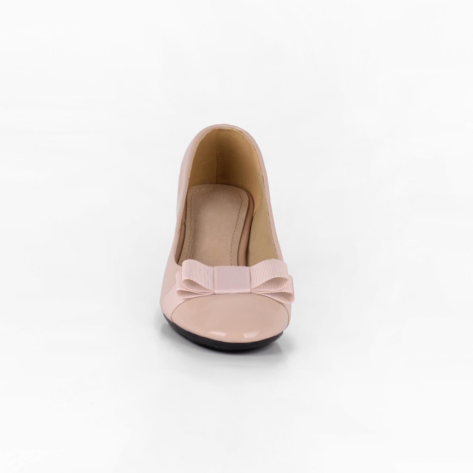 Damen-Elegante-Absatzschuhe-Hochlganz-Pumps-Blockabsatz-Ballerina-Schuhe-Chic Indexbild 34