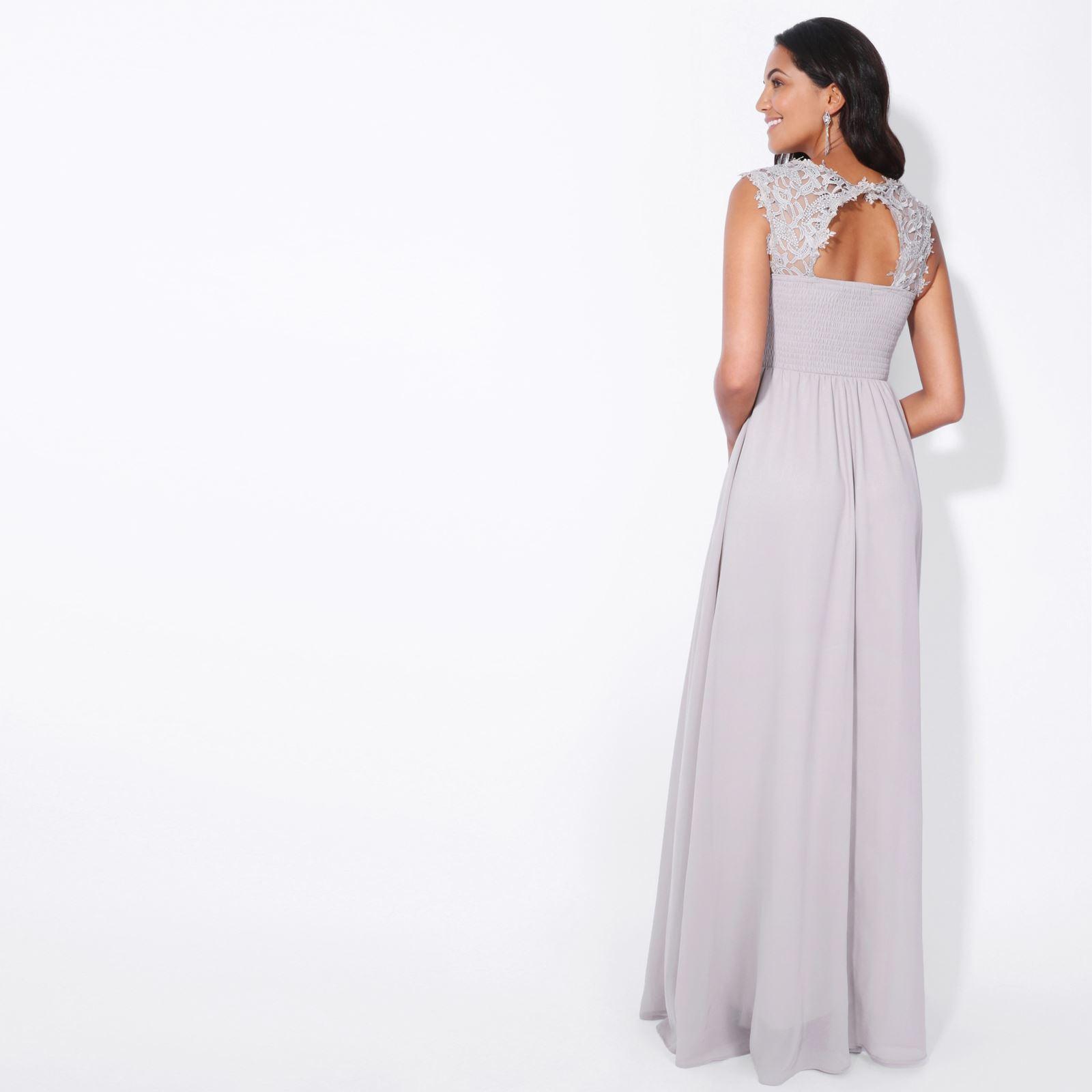 Womens-Wedding-Bridesmaid-Prom-Dress-Formal-One-Off-Shoulder-Long-Evening-8-18 thumbnail 27