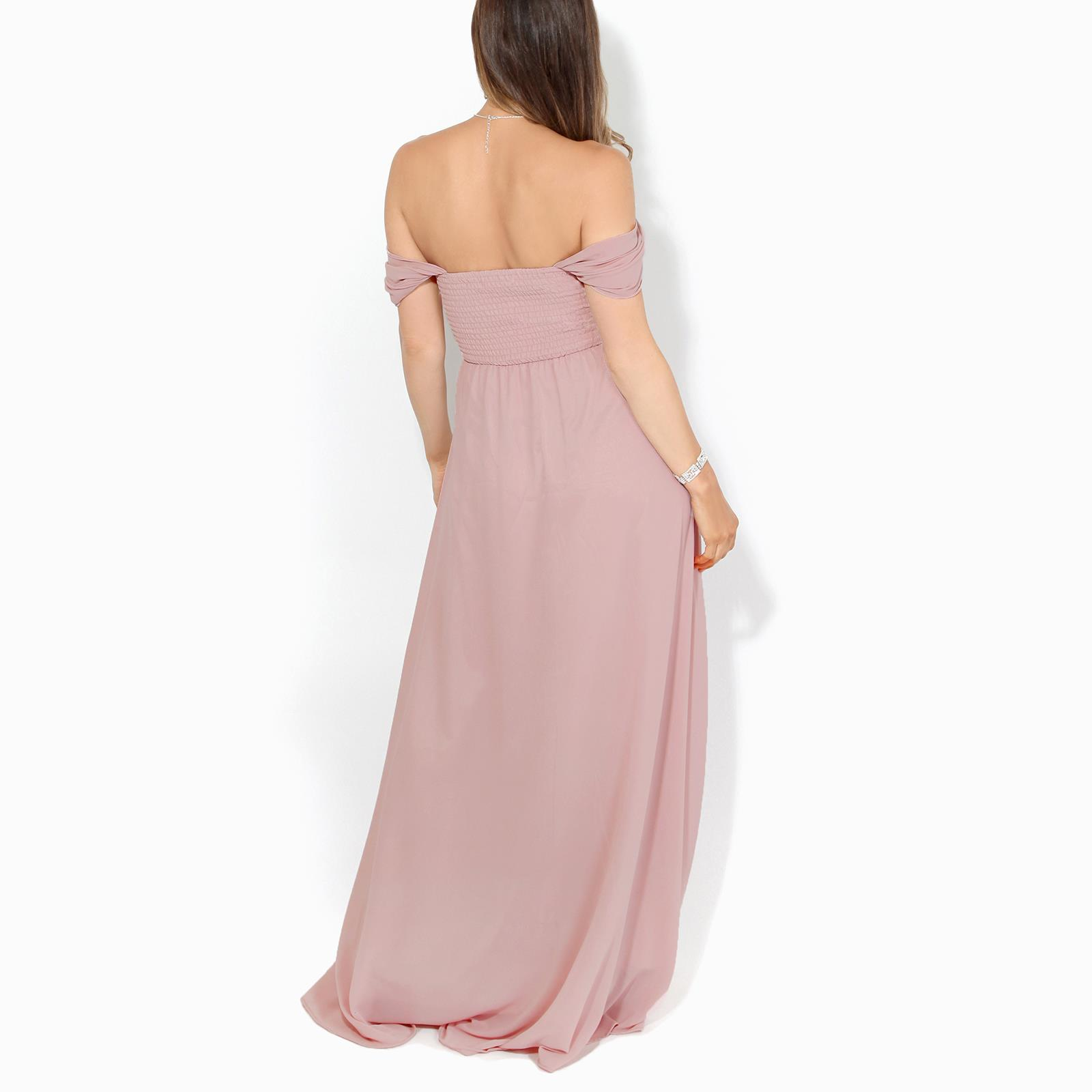 Womens-Formal-Evening-Wedding-Maxi-Prom-Dress-Long-On-Off-Shoulder-Ball-Gown thumbnail 53