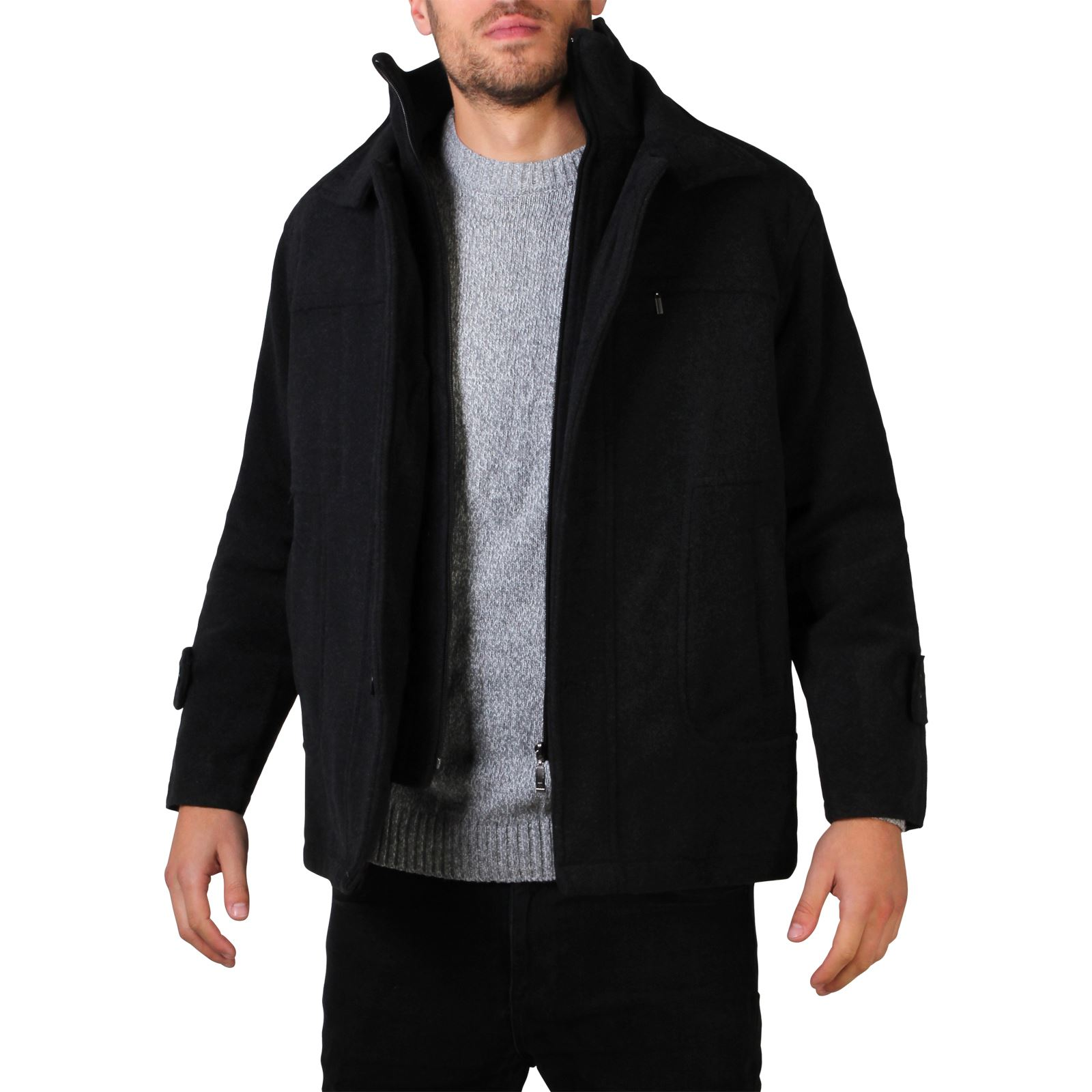 Smart black wool jacket