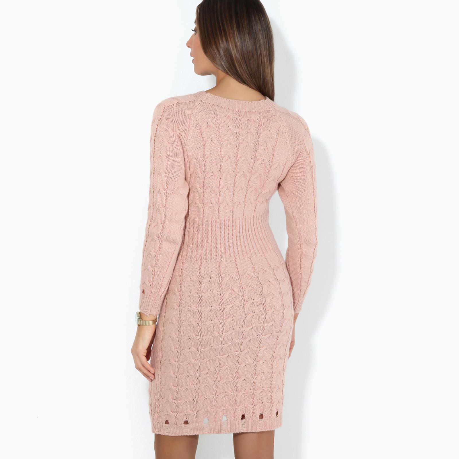 Womens-Ladies-Jumper-Dress-Longsleeve-Mini-Warm-Winter-Knit-Top-Bodycon thumbnail 16