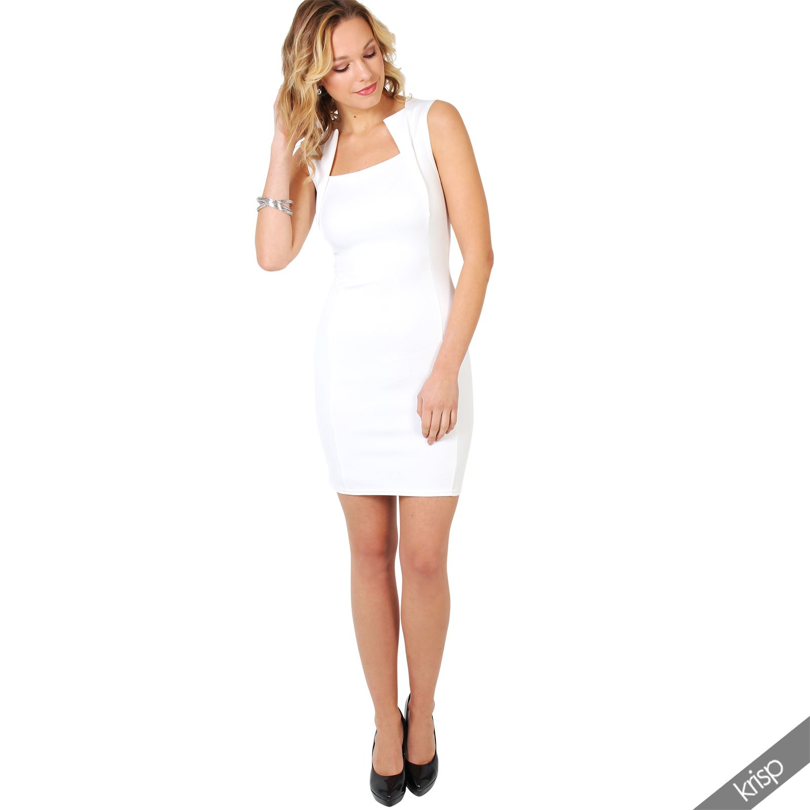 Ladies-Fashion-Bodycon-Dress-Sleeveless-Backless-Party-Fitted-Cocktail-Pencil thumbnail 6