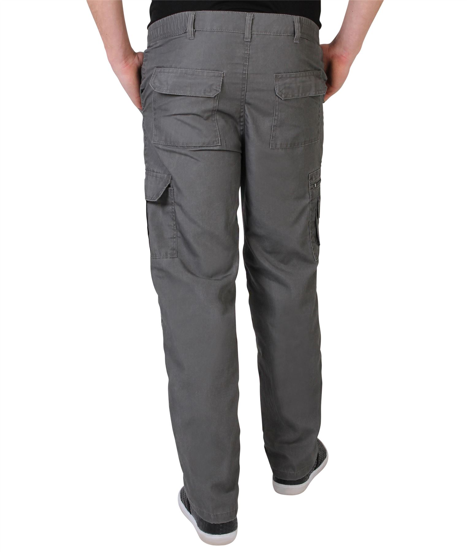 Mens-Army-Cargo-Trousers-Cotton-Combat-Pants-Military-Work-Chinos-Casual-Khakis thumbnail 13
