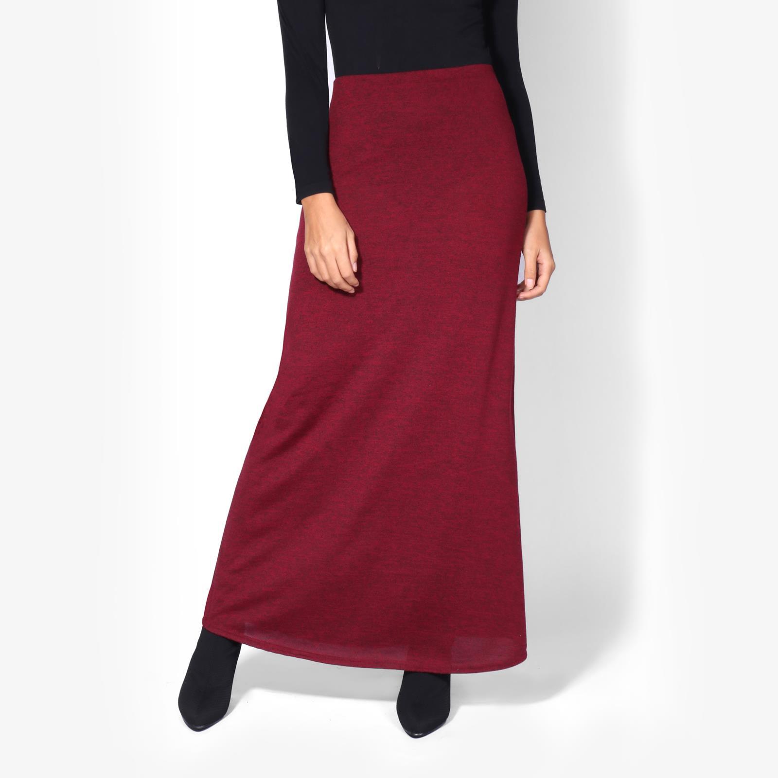 Womens-Ladies-Maxi-Skirt-High-Waist-A-Line-Long-Knit-Stretch-Bodycon-Casual-Boho thumbnail 18