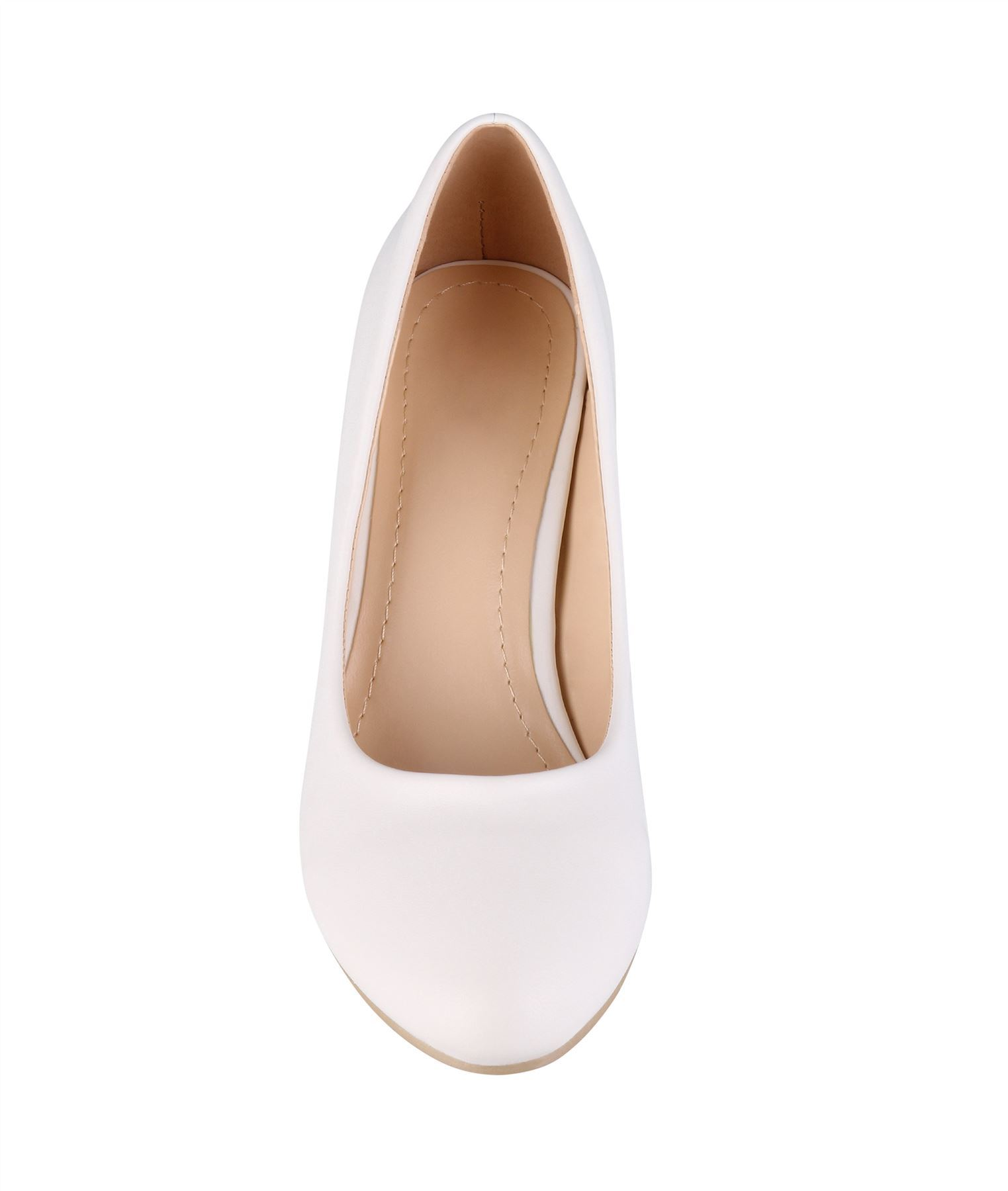 Womens-Ladies-Mid-Heel-Court-Shoes-Slip-On-Low-Kitten-Heels-Pumps-Matte-Size-3-8 thumbnail 24