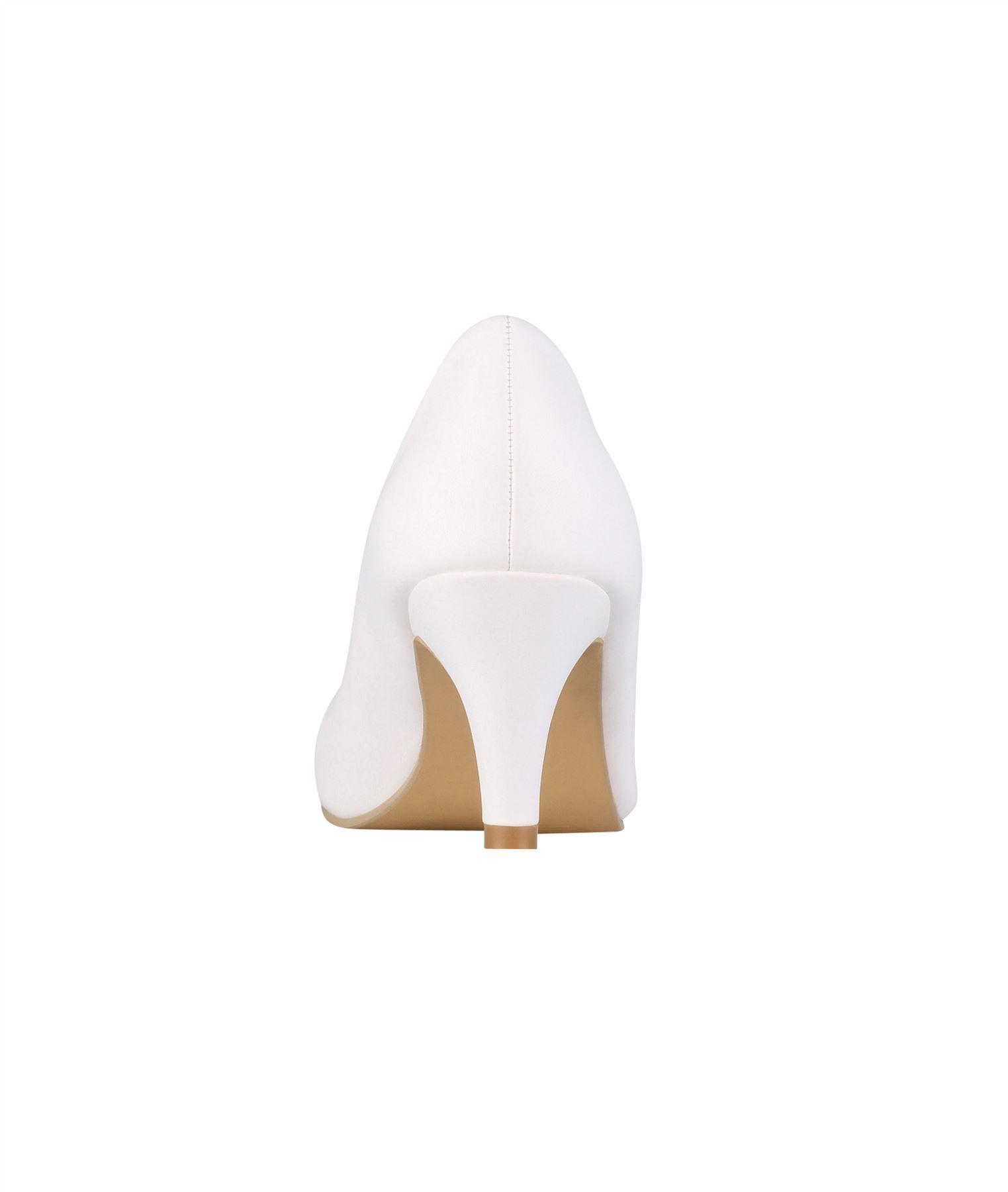 Womens-Ladies-Mid-Heel-Court-Shoes-Slip-On-Low-Kitten-Heels-Pumps-Matte-Size-3-8 thumbnail 25