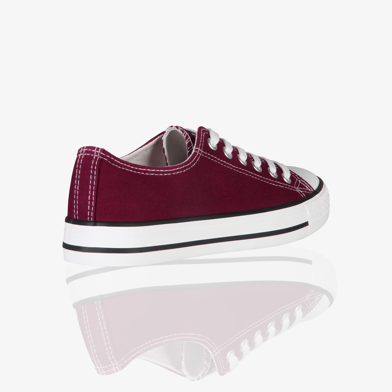 Zapatillas-Mujer-Casuales-Deportiva-Barata-Lona-Moda-Originales-Outlet-Tela-Moda miniatura 15
