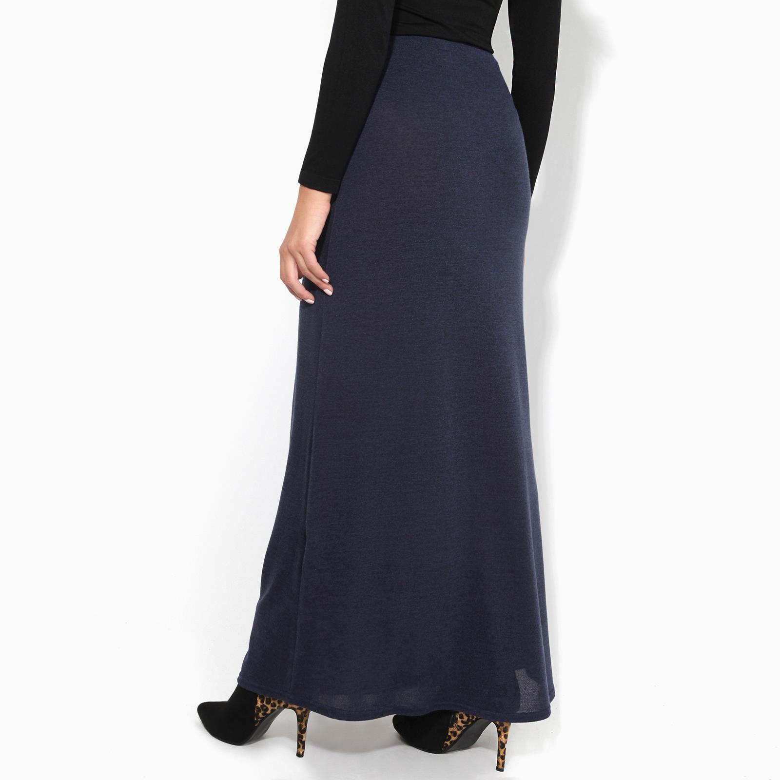 Womens-Ladies-Maxi-Skirt-High-Waist-A-Line-Long-Knit-Stretch-Bodycon-Casual-Boho thumbnail 15