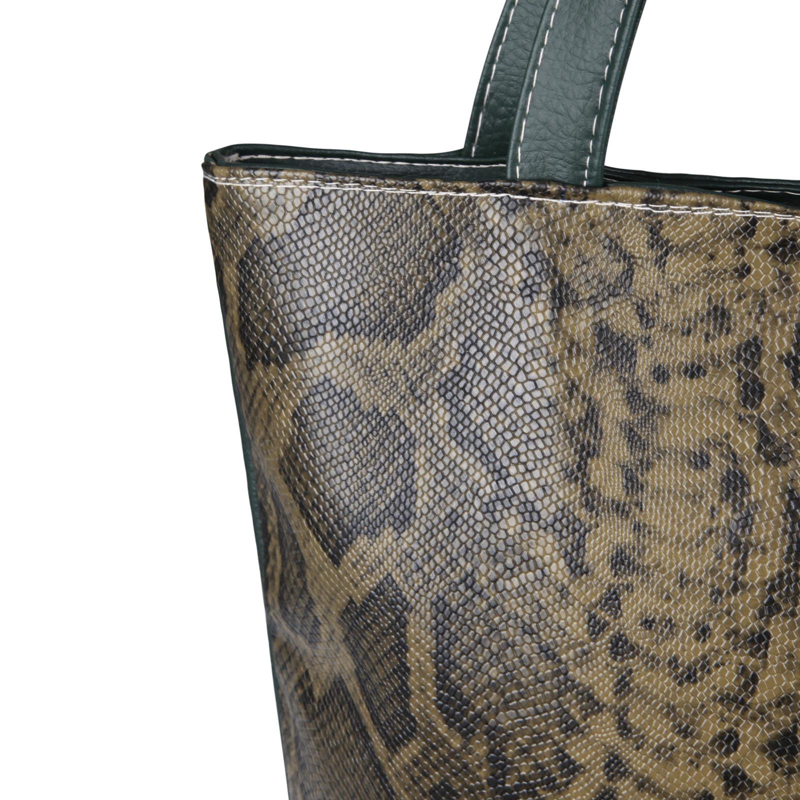 Animal-Print-Handbag-PU-Leather-Shoulder-Bag-Work-Office-Tote-Shopper-Fashion thumbnail 9