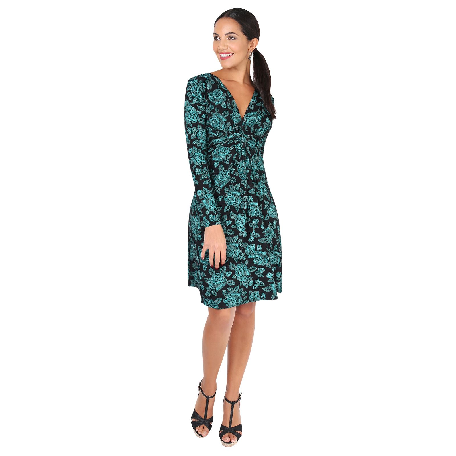 Damen Kleid Langarm Figurbetonend Minikleid Abendkleid Partykleid ...