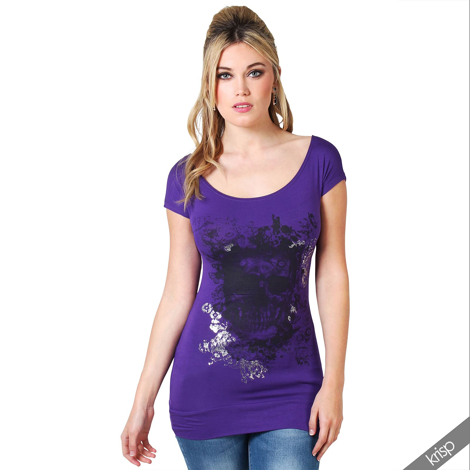 Womens-Cold-Off-Shoulder-Tunic-Top-Long-Cut-Sleeve-Embroidered-Blouse-T-Shirt