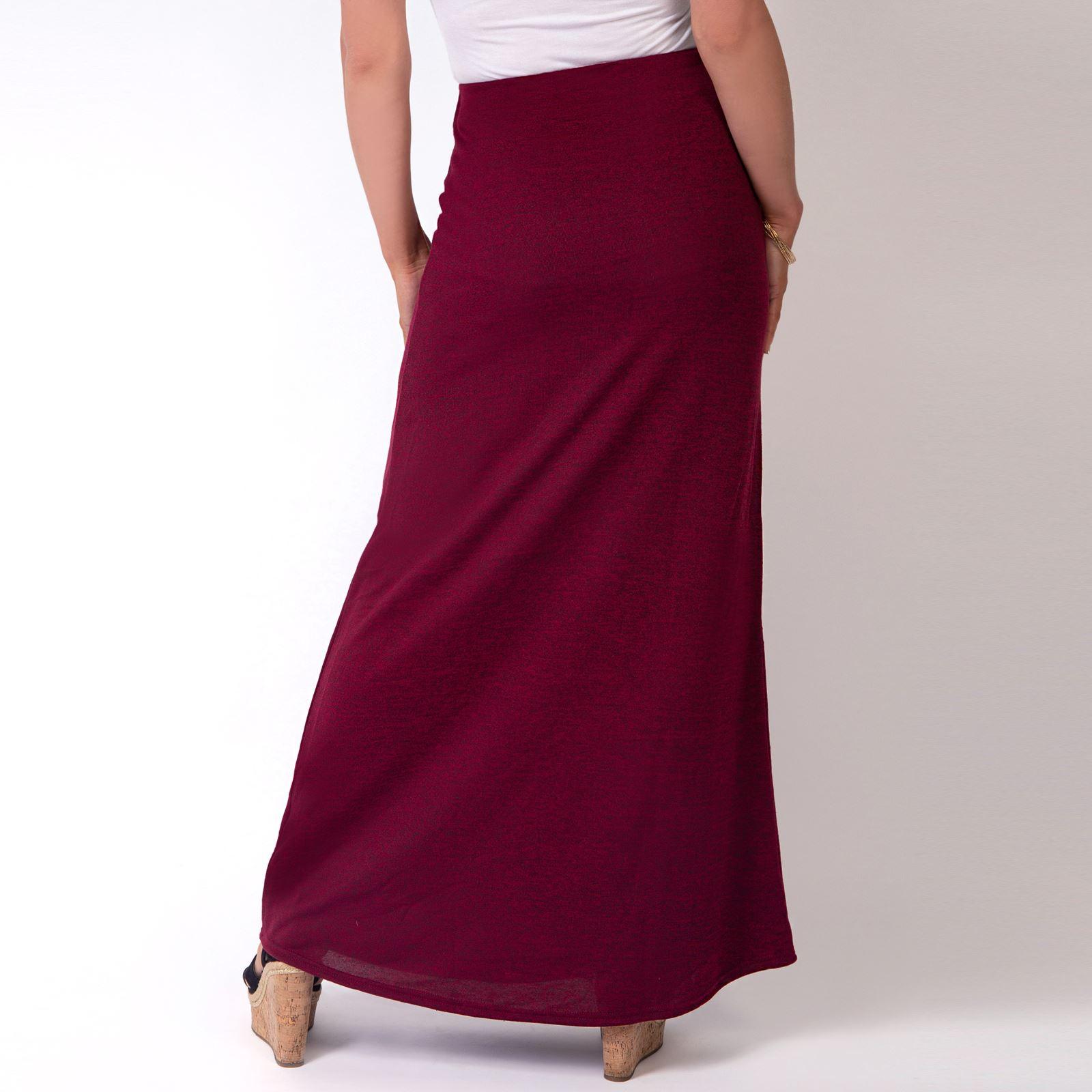 Womens-Ladies-Maxi-Skirt-High-Waist-A-Line-Long-Knit-Stretch-Bodycon-Casual-Boho thumbnail 17