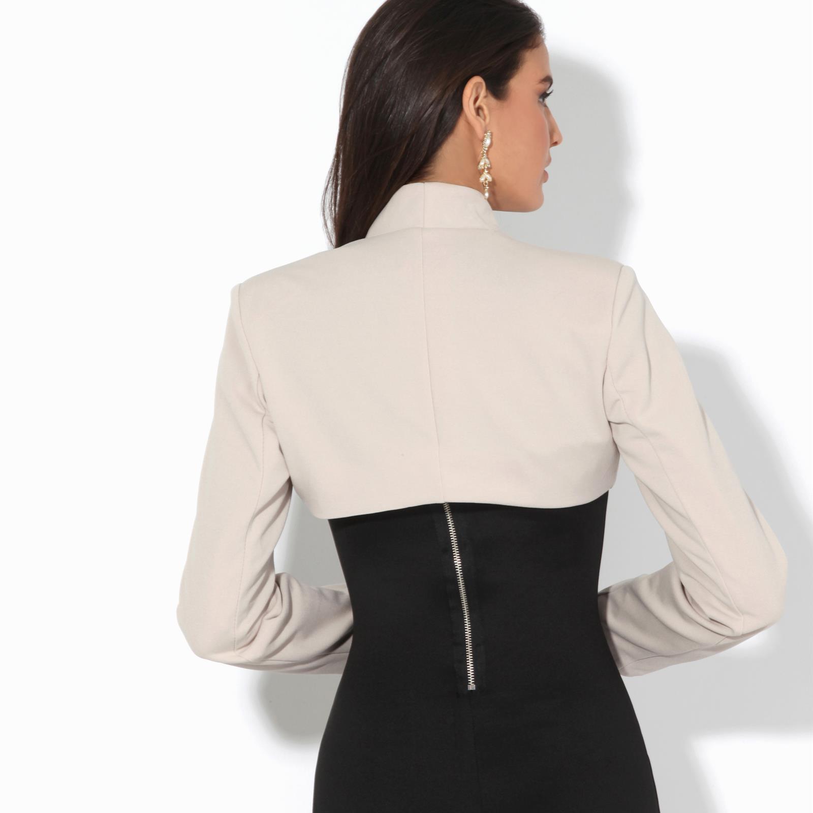 Womens-Ladies-Bolero-Jacket-Shrug-Chiffon-Long-Sleeve-Crop-Top-Blazer-Coat-Party thumbnail 11
