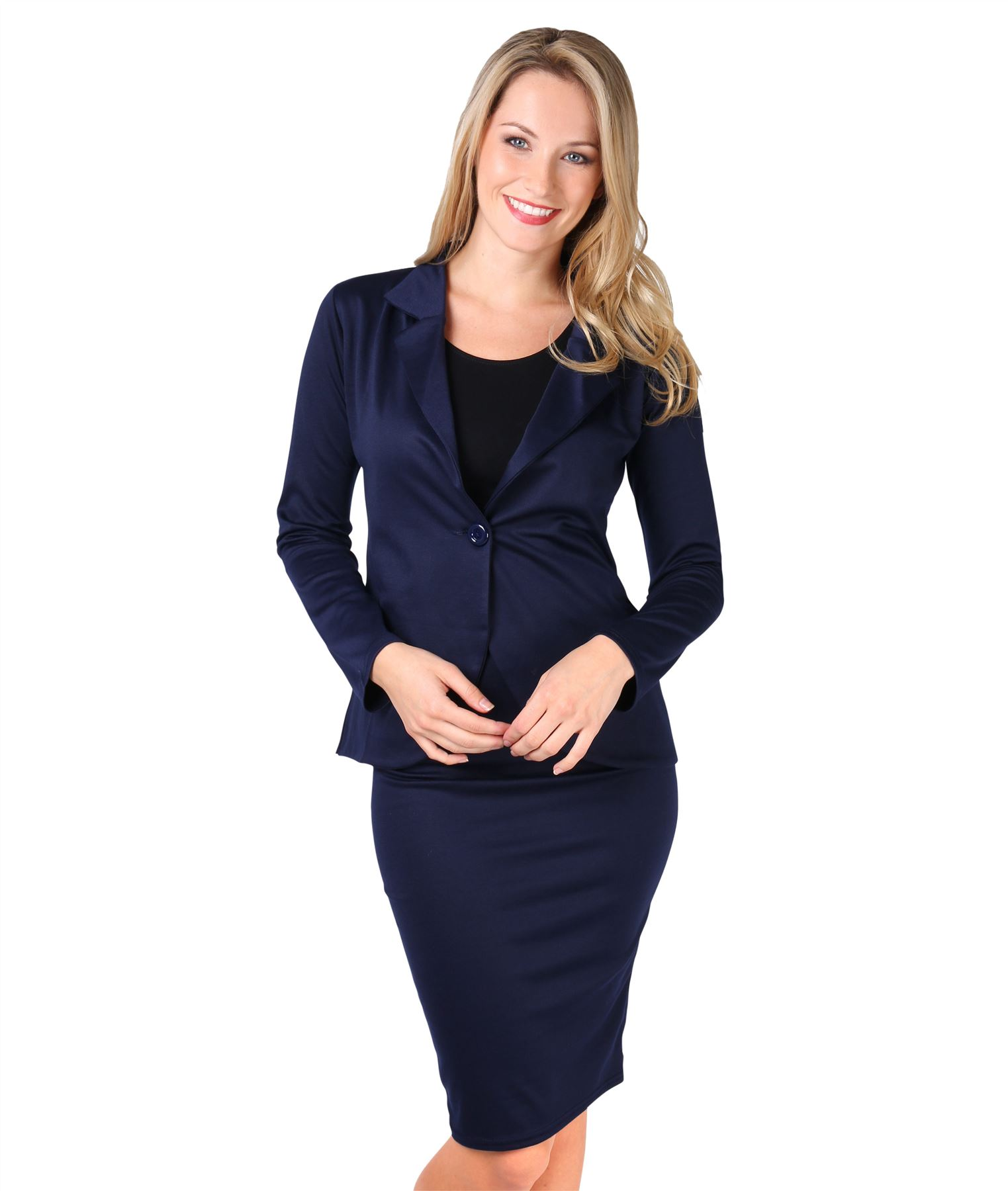 Womens-Ladies-Pencil-Skirt-Midi-Knee-Long-High-Waist-Work-Office-Business-Smart thumbnail 9
