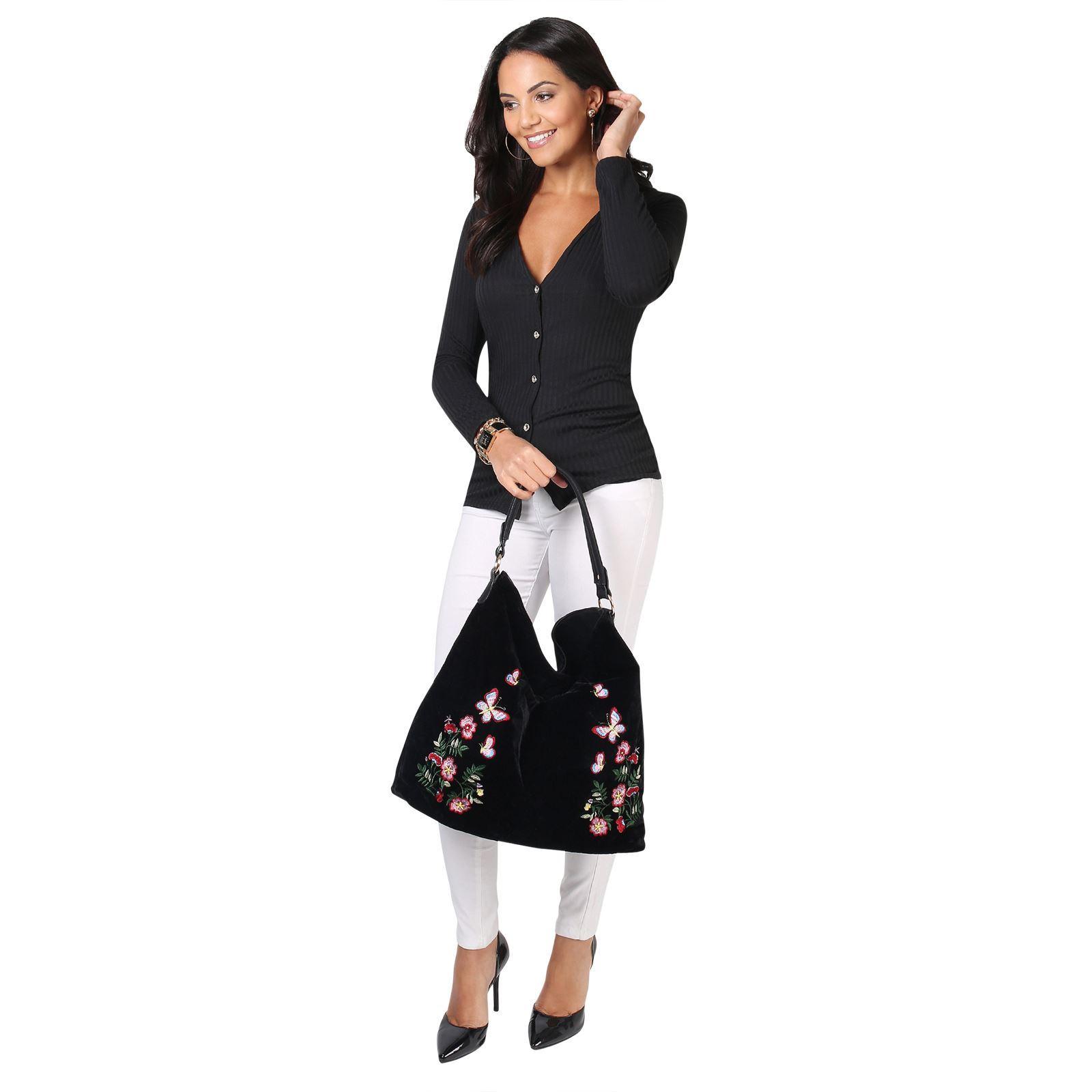 Rebeca-Mujer-Corta-Botones-Basica-Acanalada-Barata-Oferta-Casual-Ligera-Fina miniatura 18