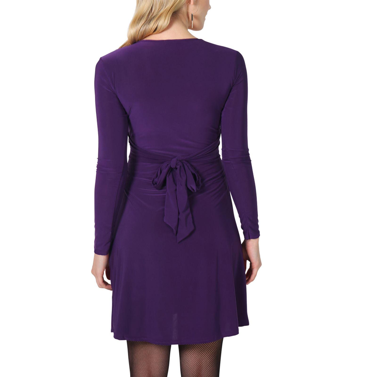 Damen Kleid Langarm Figurbetonend Minikleid Abendkleid ...