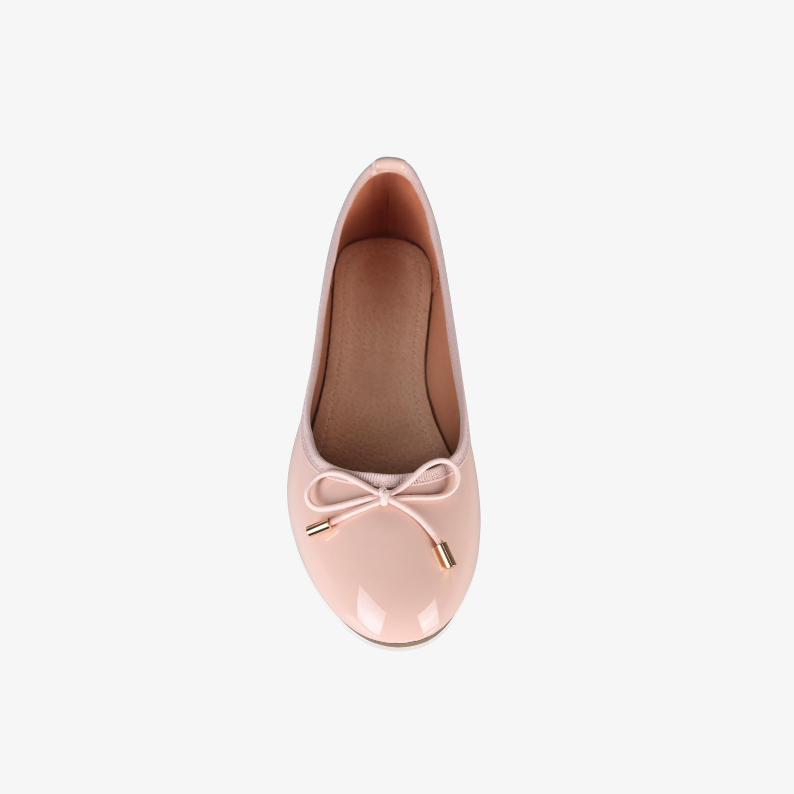 Womens-Ladies-Patent-Flat-Shoes-Ballerina-Ballet-Dolly-Court-Pumps-Slip-On-Bow thumbnail 9