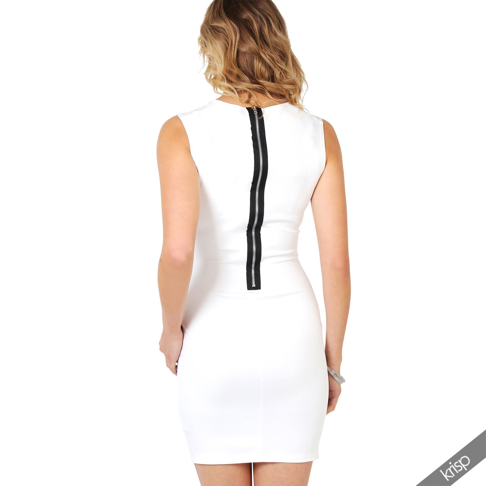Ladies-Fashion-Bodycon-Dress-Sleeveless-Backless-Party-Fitted-Cocktail-Pencil thumbnail 7