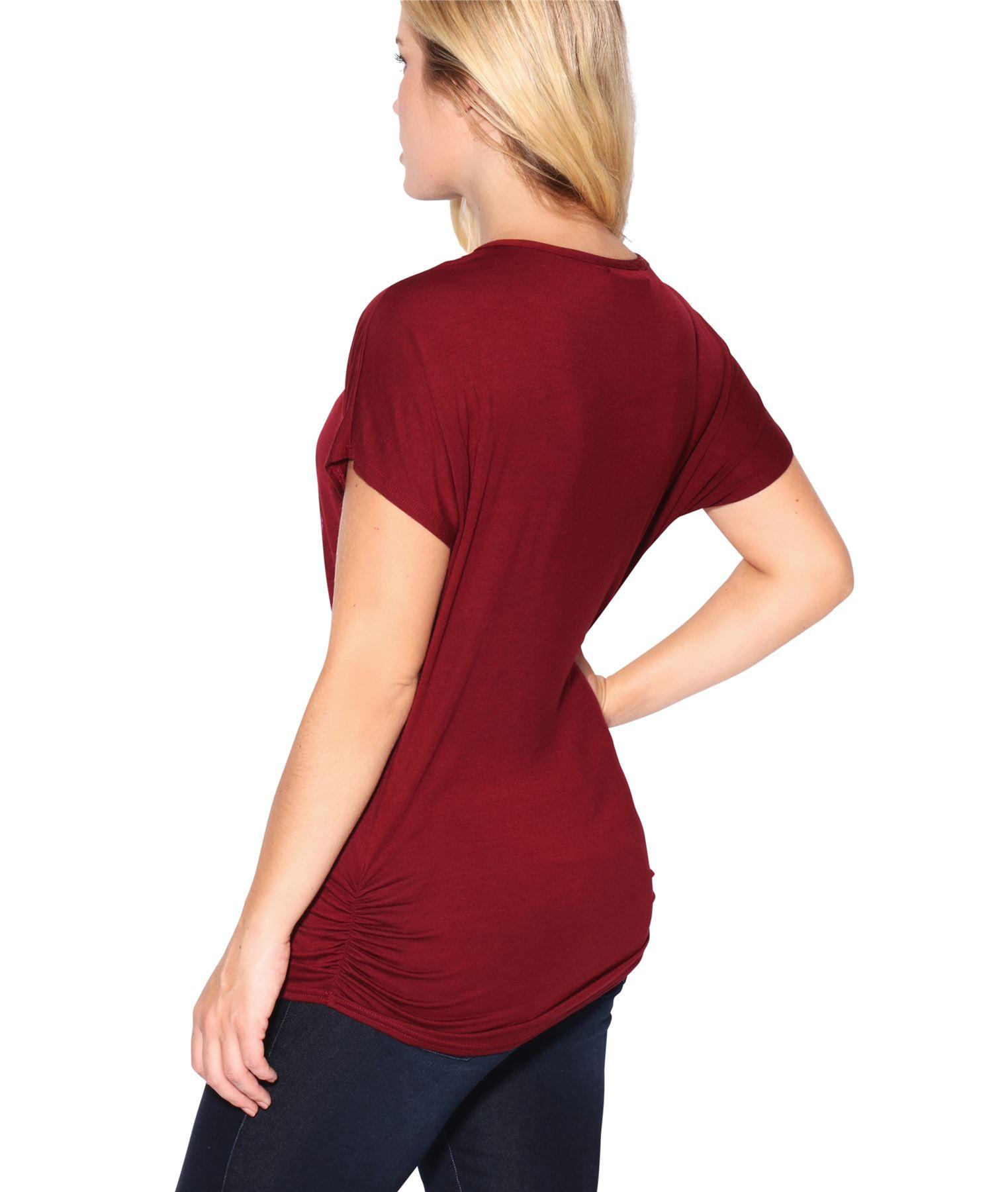 Womens-Oversized-Batwing-T-Shirt-Ladies-Baggy-Animal-Tiger-Blouse-Print-Top thumbnail 25