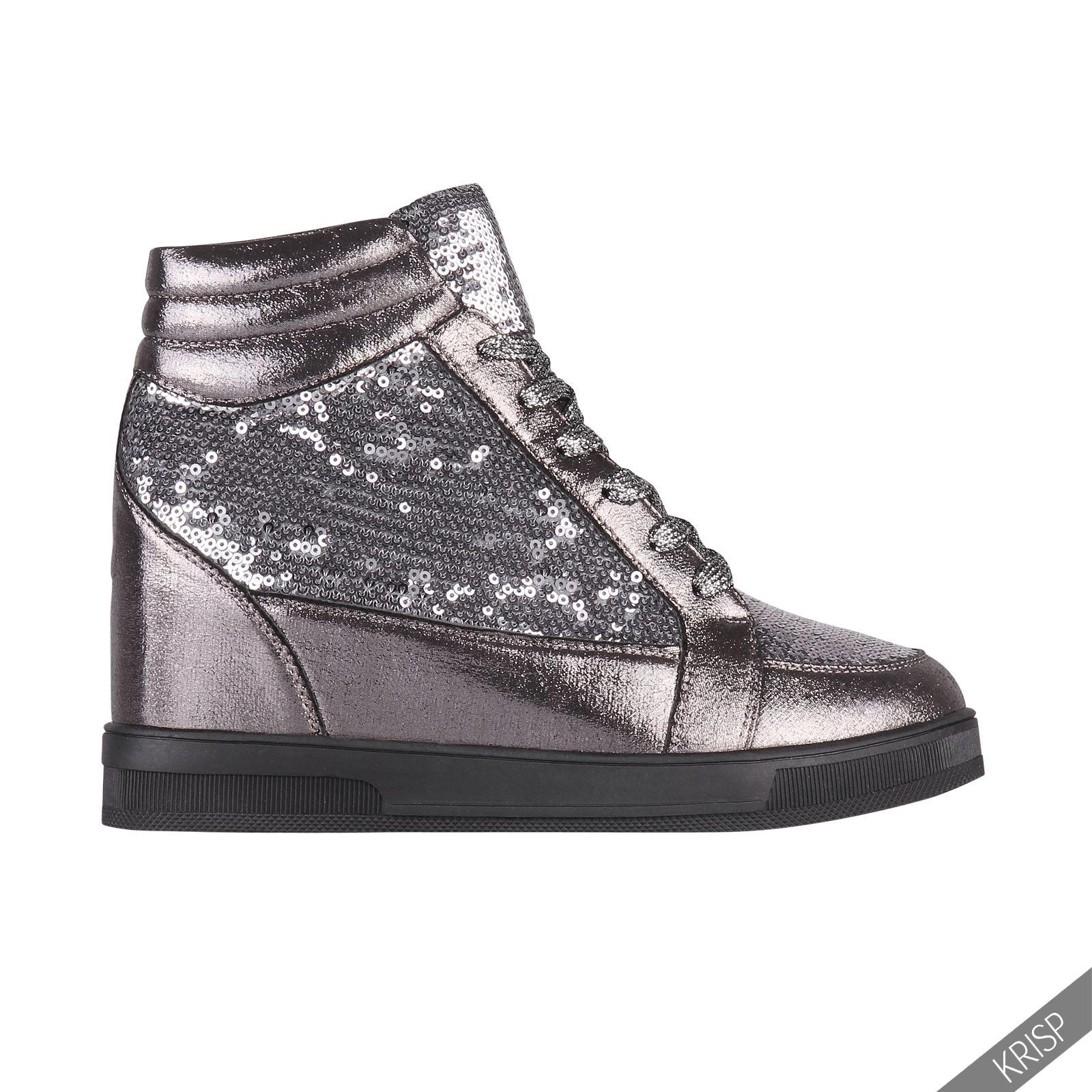 Freizeitschuhe Damen Schuhe TOP Keilabsatz Wedges Sneakers 8078 Blau 38