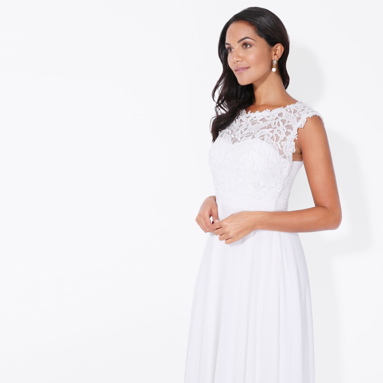 Womens-Wedding-Bridesmaid-Prom-Dress-Formal-One-Off-Shoulder-Long-Evening-8-18 thumbnail 75