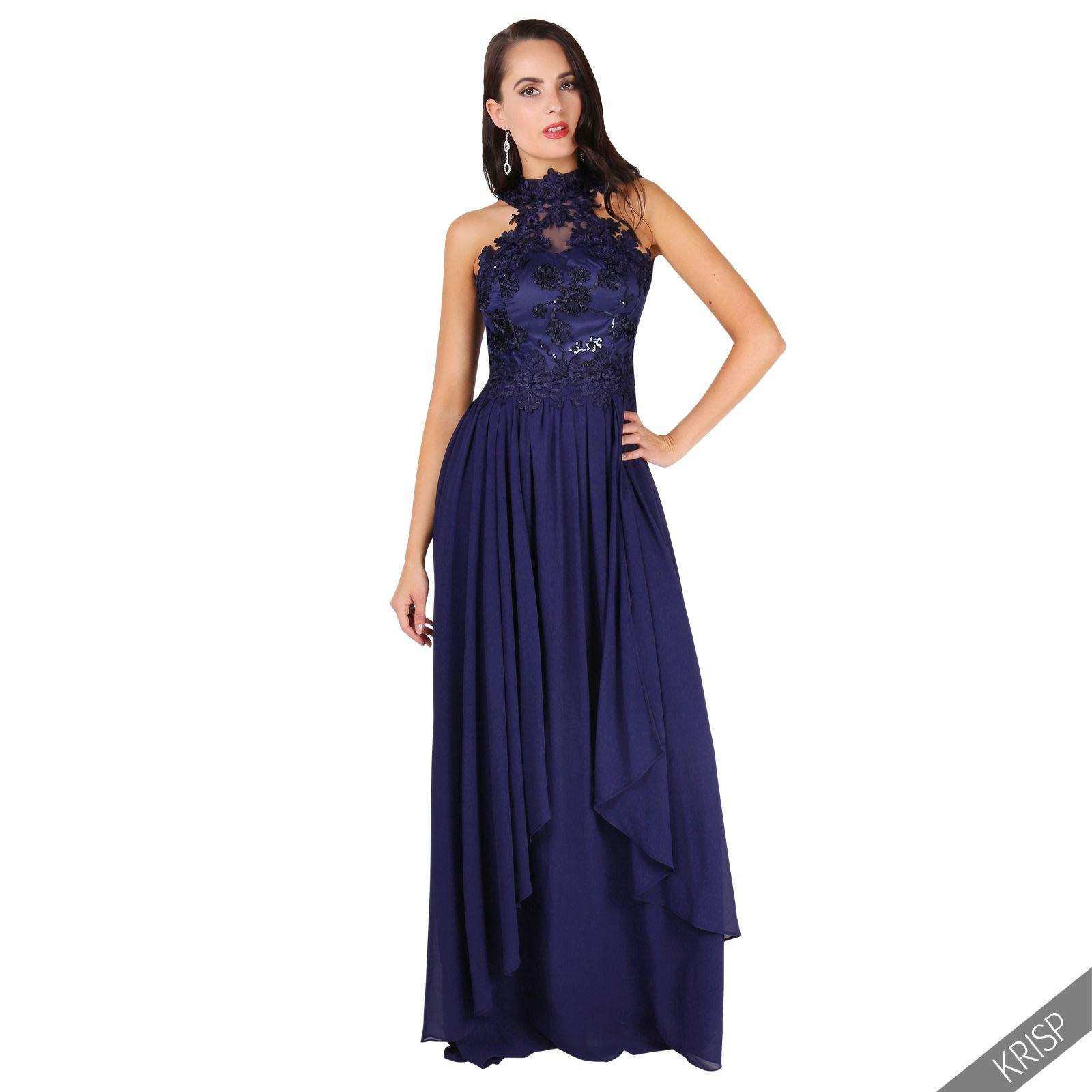 Damen Frauen Mermaid Meerjungfrau Abendkleid Ballkleid mit Spitze ...