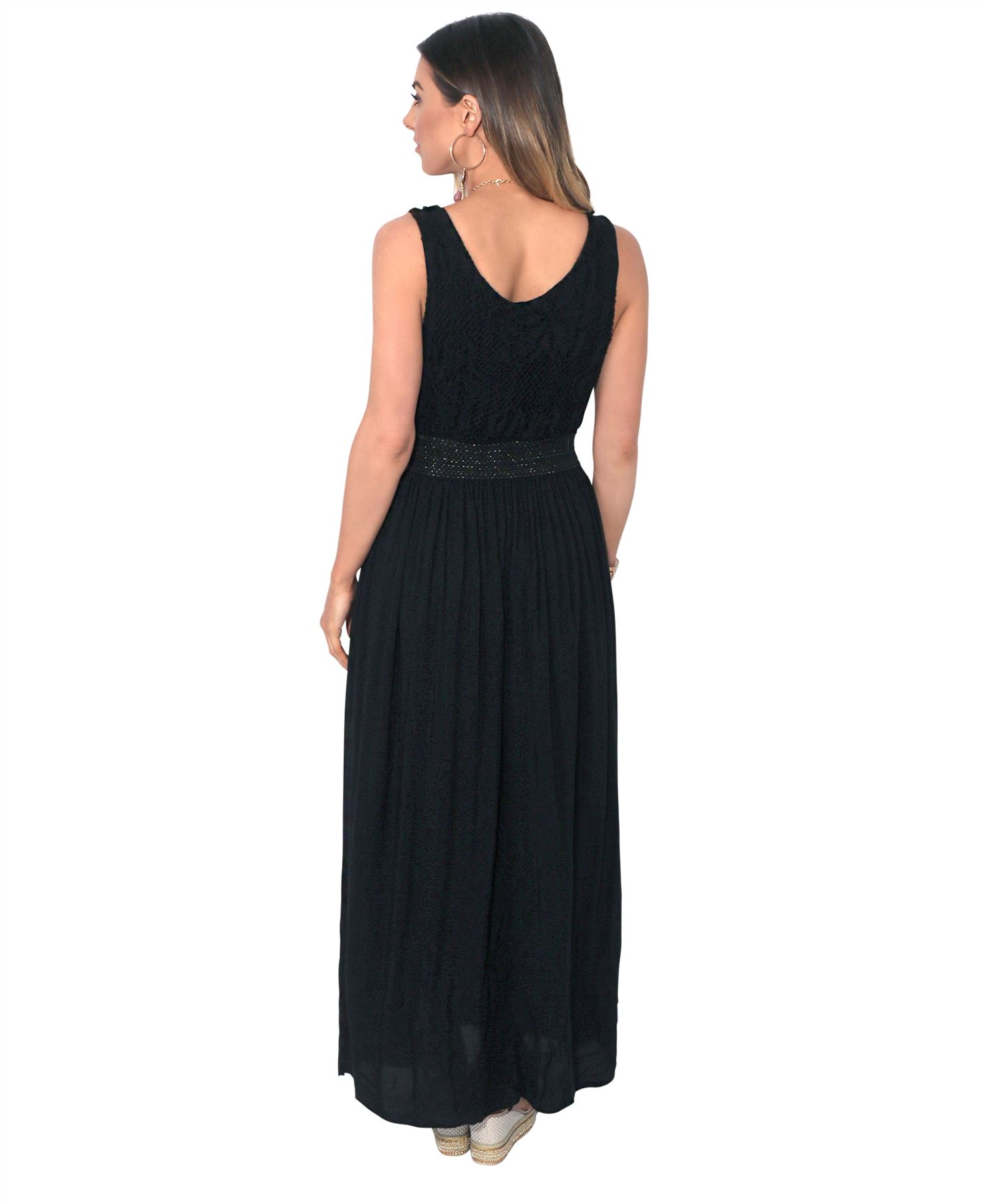 Women-Boho-Maxi-Dress-Gown-Soft-Cotton-Long-Pleated-Flared-Gypsy-Summer-Festival thumbnail 4