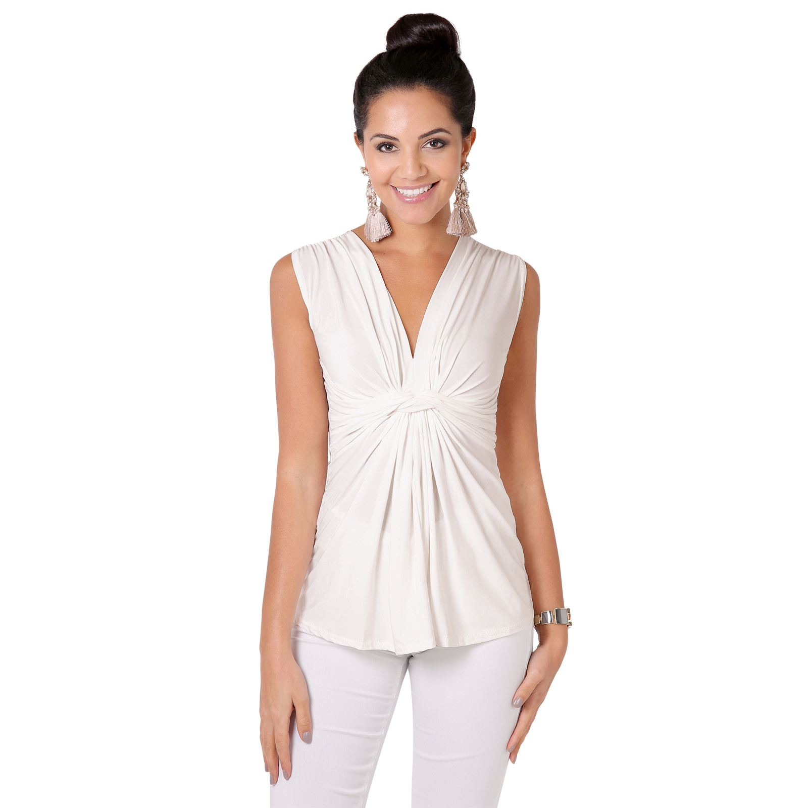 Femmes-Haut-Debardeur-T-shirt-Tee-Shirt-Top-Sans-Manche-Uni-Affaires-Ete-Plage miniature 3