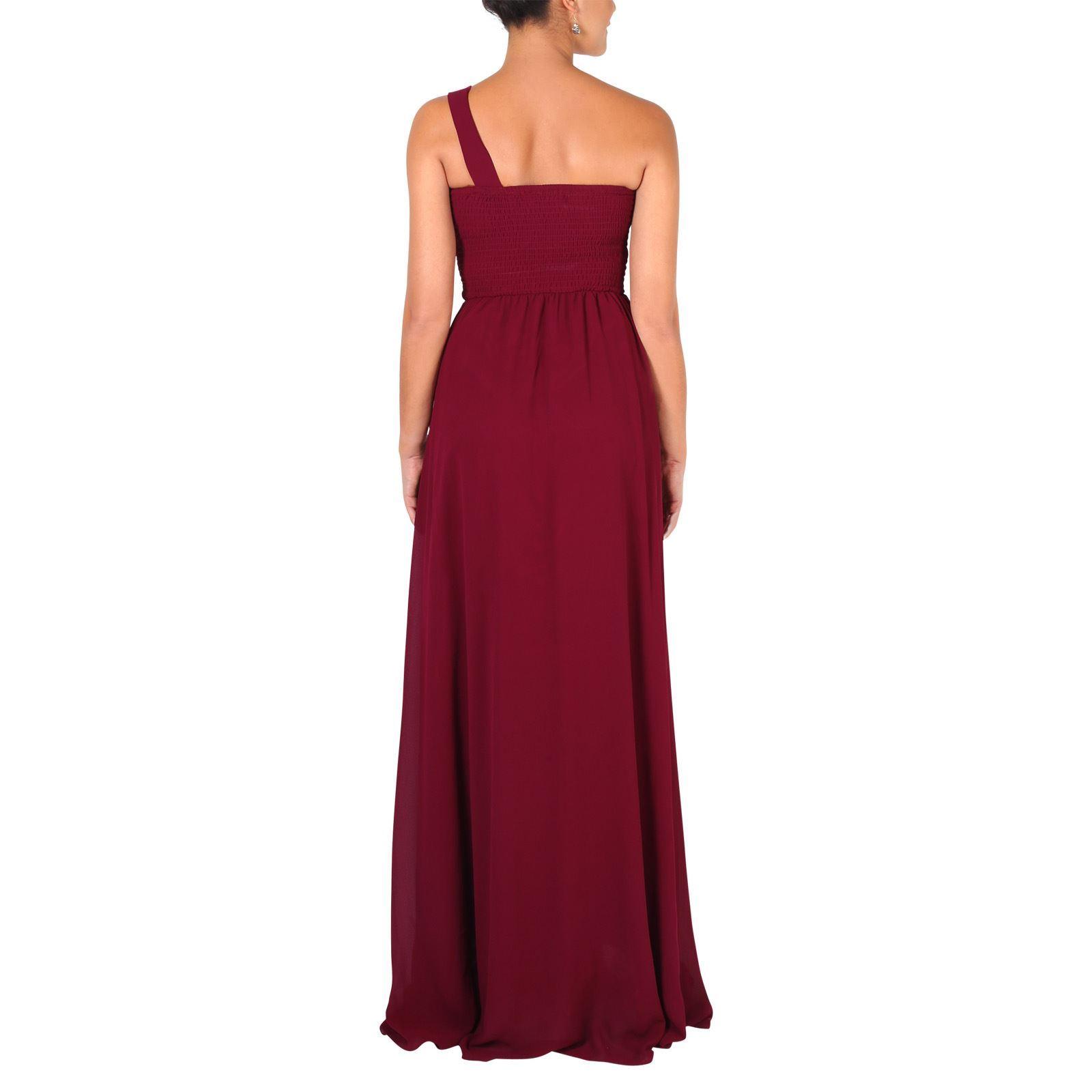 Womens-Wedding-Bridesmaid-Prom-Dress-Formal-One-Off-Shoulder-Long-Evening-8-18 thumbnail 82