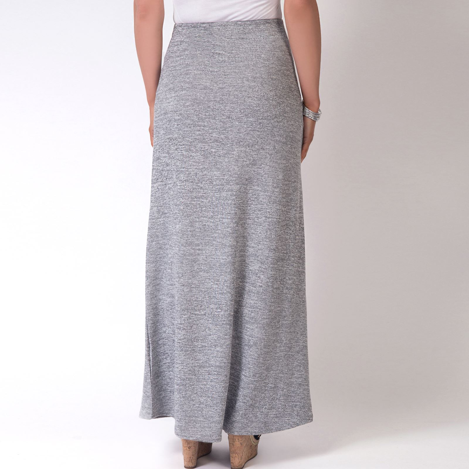 Womens-Ladies-Maxi-Skirt-High-Waist-A-Line-Long-Knit-Stretch-Bodycon-Casual-Boho thumbnail 7