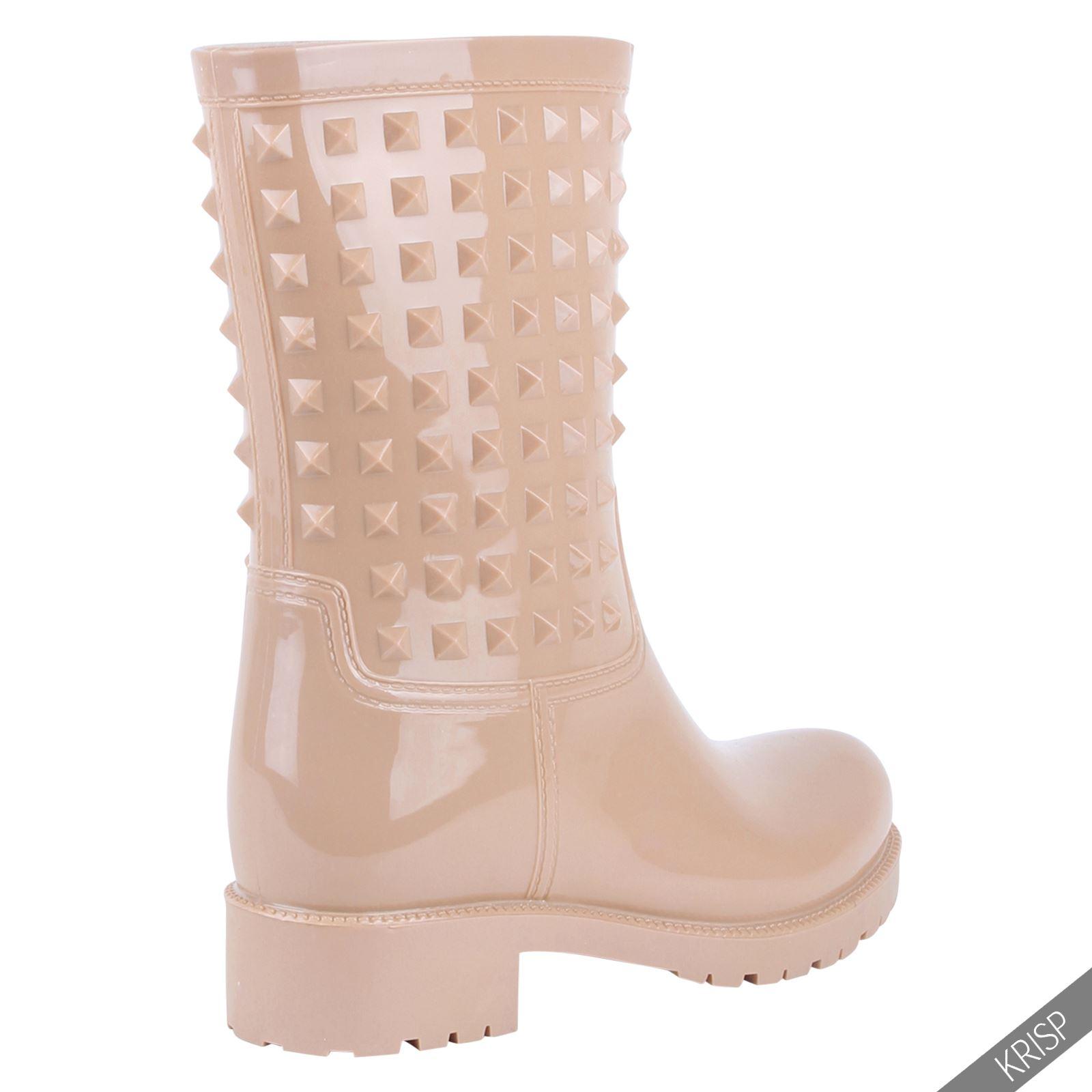 Botas-Agua-Mujer-Barata-Original-Botines-Moda-Comodas-Calzado-Elastico-Juveniles miniatura 10