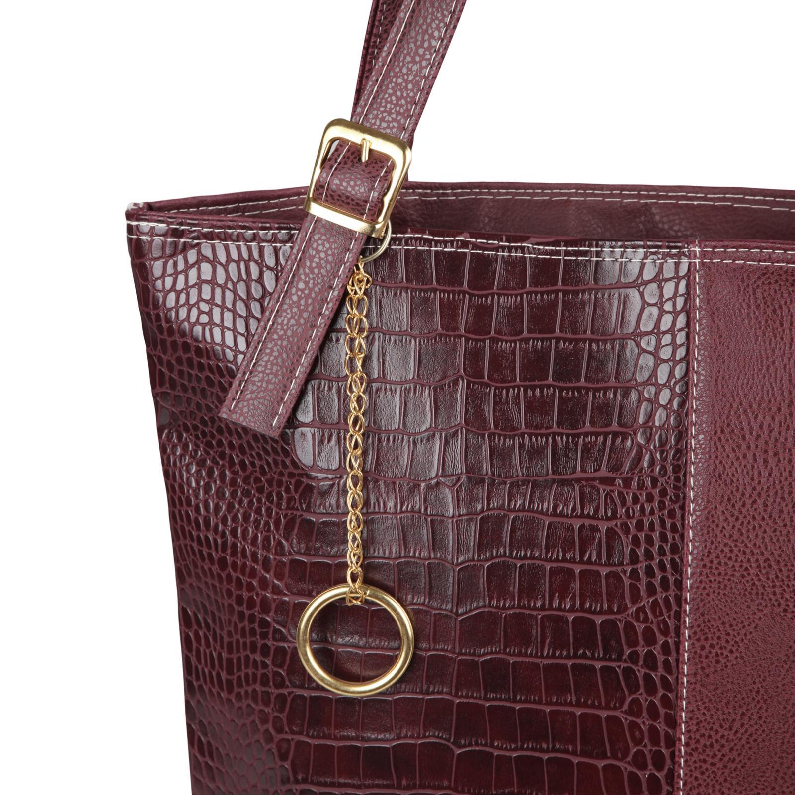 Animal-Print-Handbag-PU-Leather-Shoulder-Bag-Work-Office-Tote-Shopper-Fashion thumbnail 15