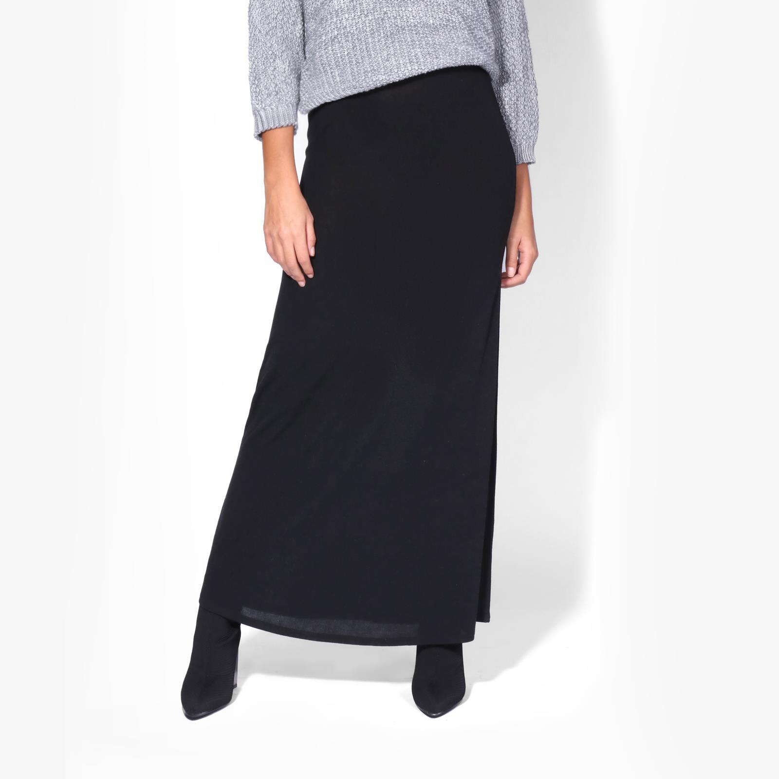 Womens-Ladies-Maxi-Skirt-High-Waist-A-Line-Long-Knit-Stretch-Bodycon-Casual-Boho thumbnail 4