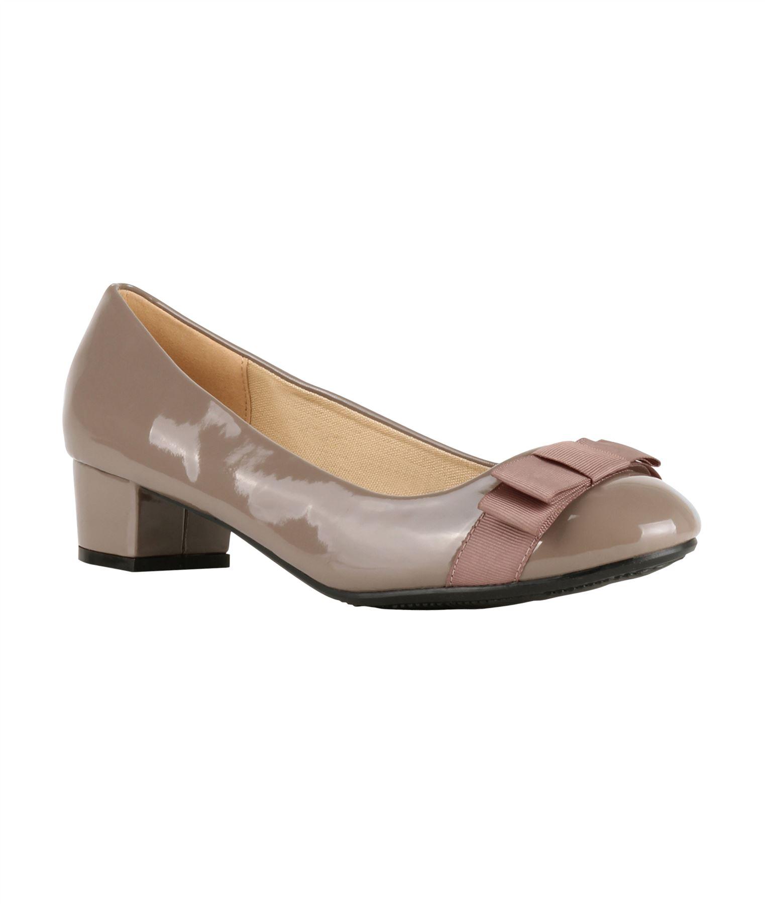 Damen-Elegante-Absatzschuhe-Hochlganz-Pumps-Blockabsatz-Ballerina-Schuhe-Chic Indexbild 13