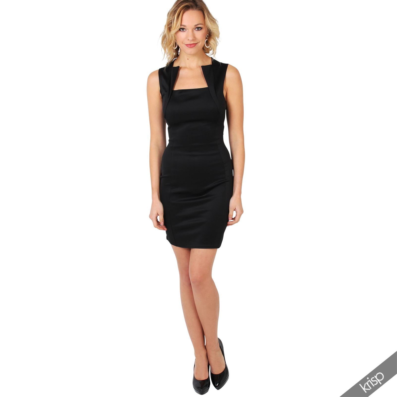 Ladies-Fashion-Bodycon-Dress-Sleeveless-Backless-Party-Fitted-Cocktail-Pencil thumbnail 3