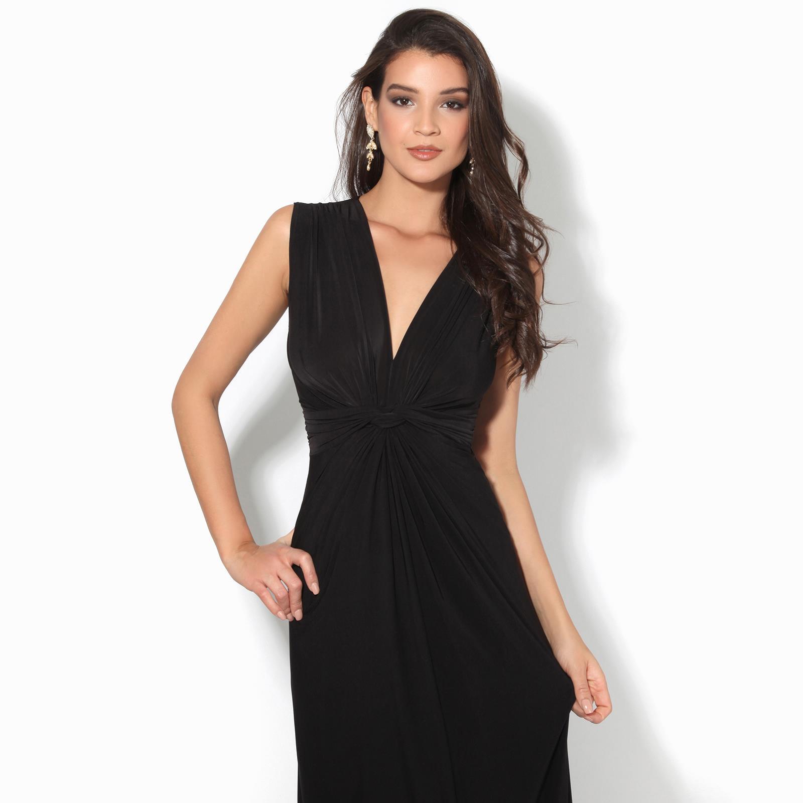 Womens-Ladies-Boho-Long-Maxi-Dress-Knot-V-Neck-Sleeveless-Pleated-Summer-Party thumbnail 6