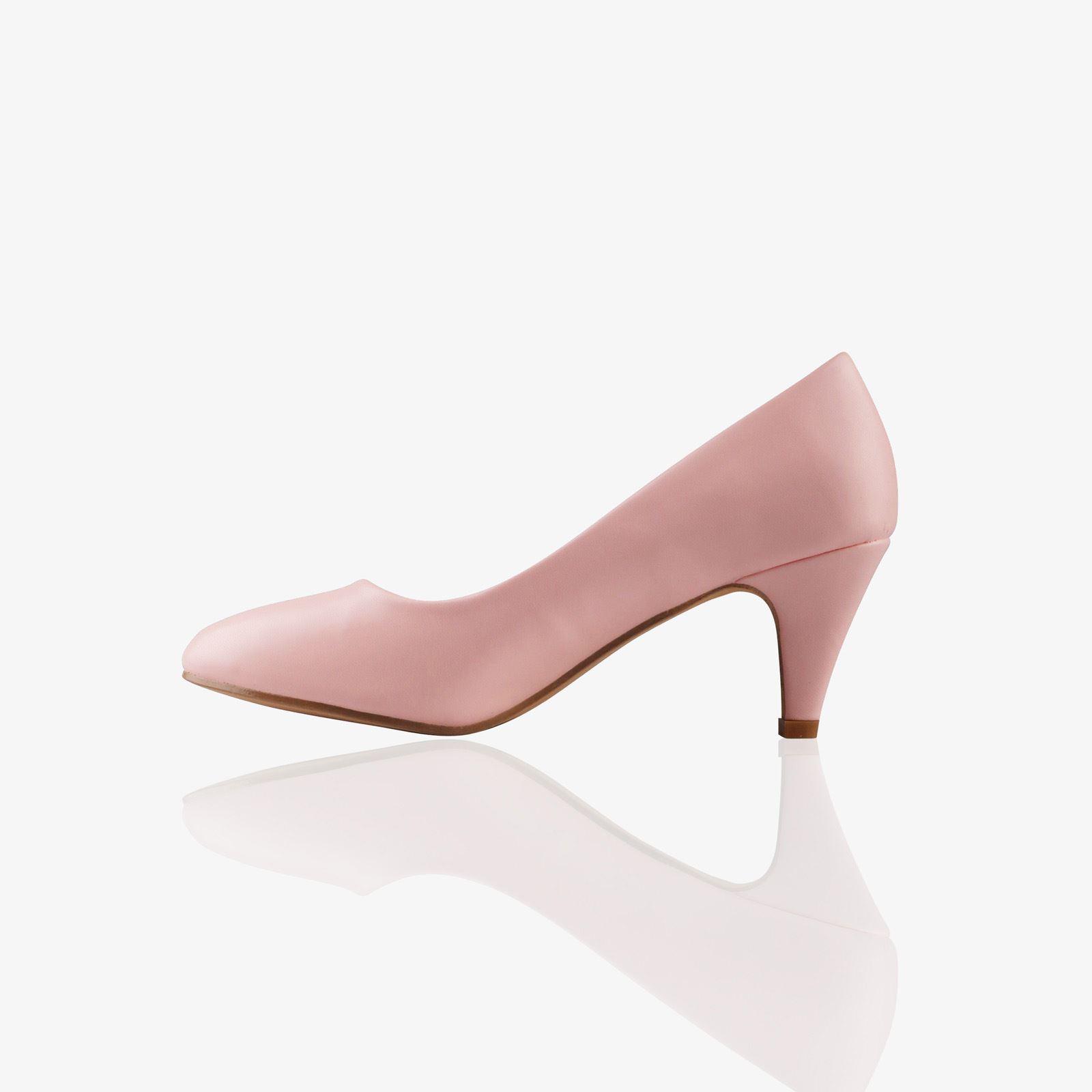 Womens-Ladies-Mid-Heel-Court-Shoes-Slip-On-Low-Kitten-Heels-Pumps-Matte-Size-3-8 thumbnail 20