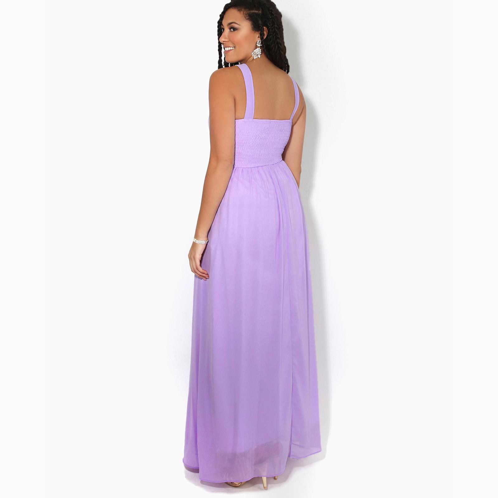 Women-Ladies-Long-Cocktail-Wedding-Bridesmaid-Evening-Maxi-Dress-Formal-Gown thumbnail 11