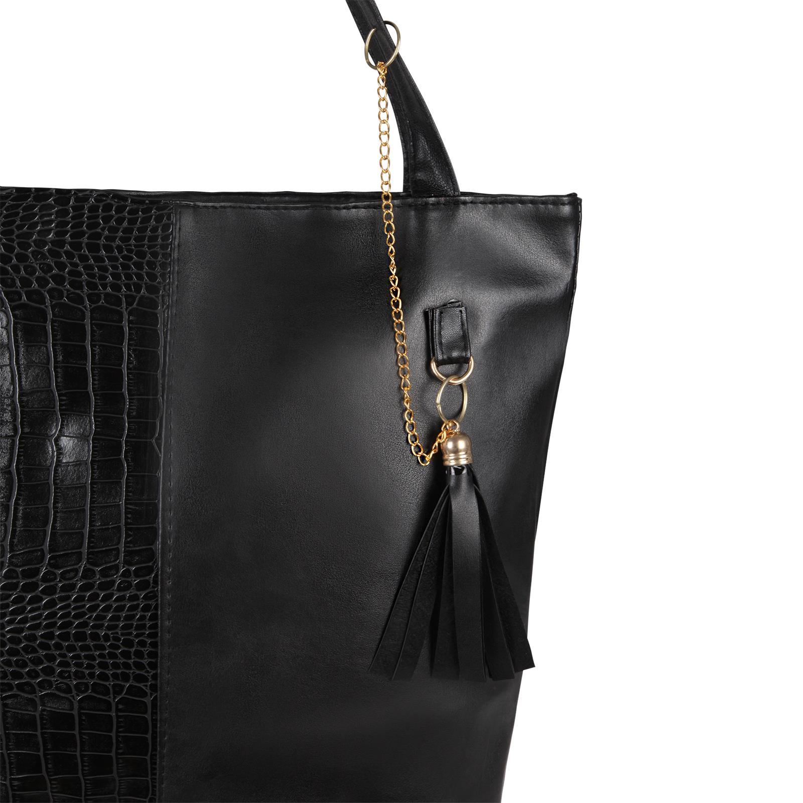 Animal-Print-Handbag-PU-Leather-Shoulder-Bag-Work-Office-Tote-Shopper-Fashion thumbnail 3