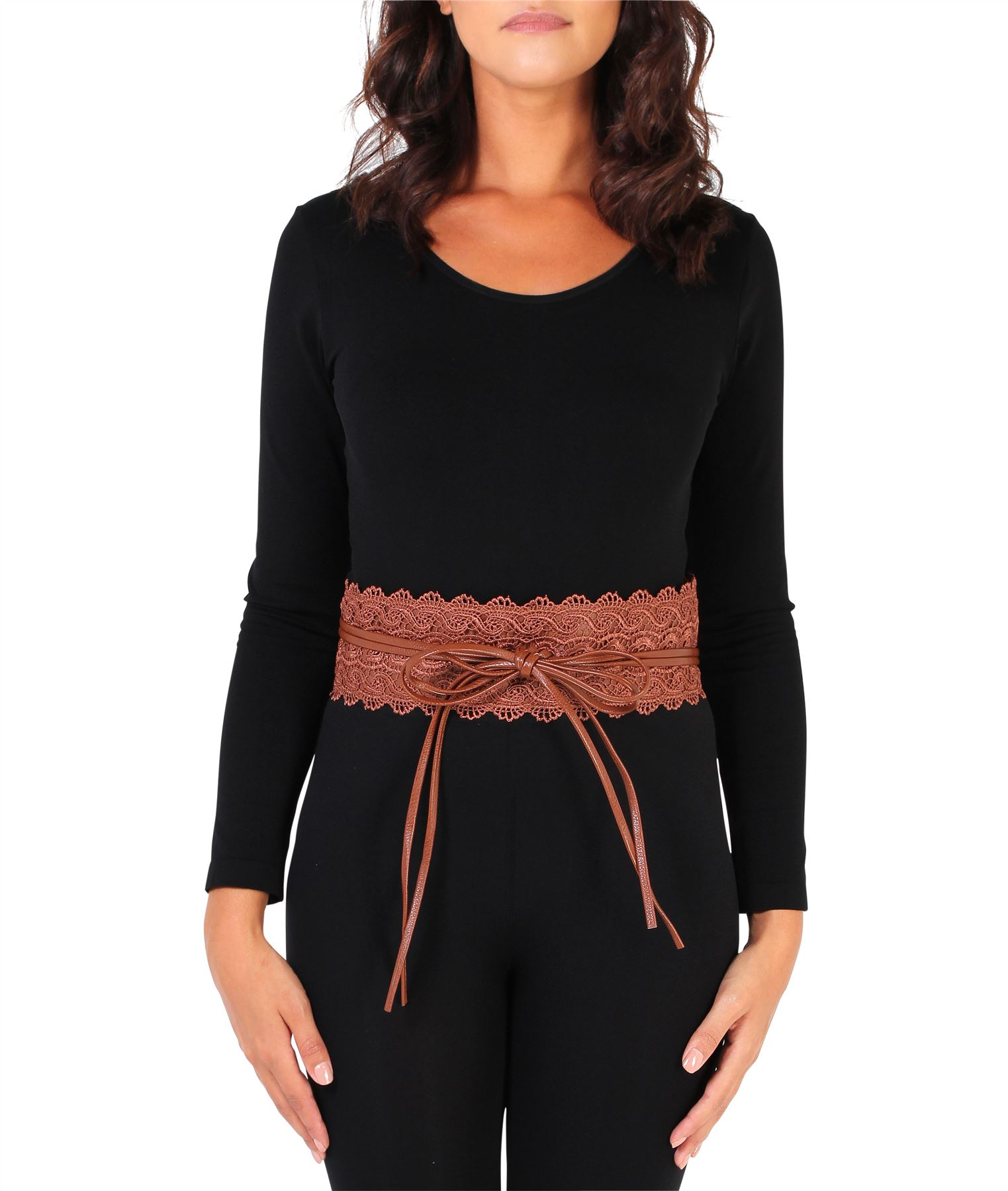 thumbnail 12 - Womens-Ladies-Wide-Waist-Belt-Floral-Waistband-Pattern-Band-Crochet-Lace-Corset