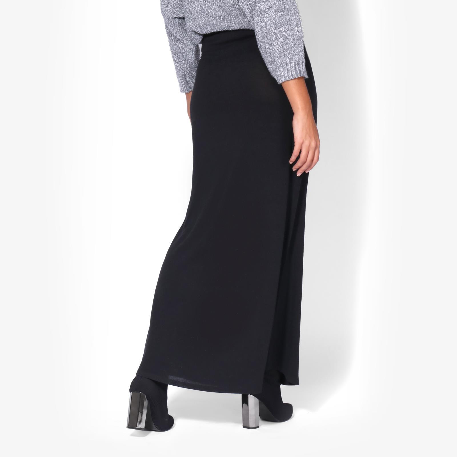 Womens-Ladies-Maxi-Skirt-High-Waist-A-Line-Long-Knit-Stretch-Bodycon-Casual-Boho thumbnail 5