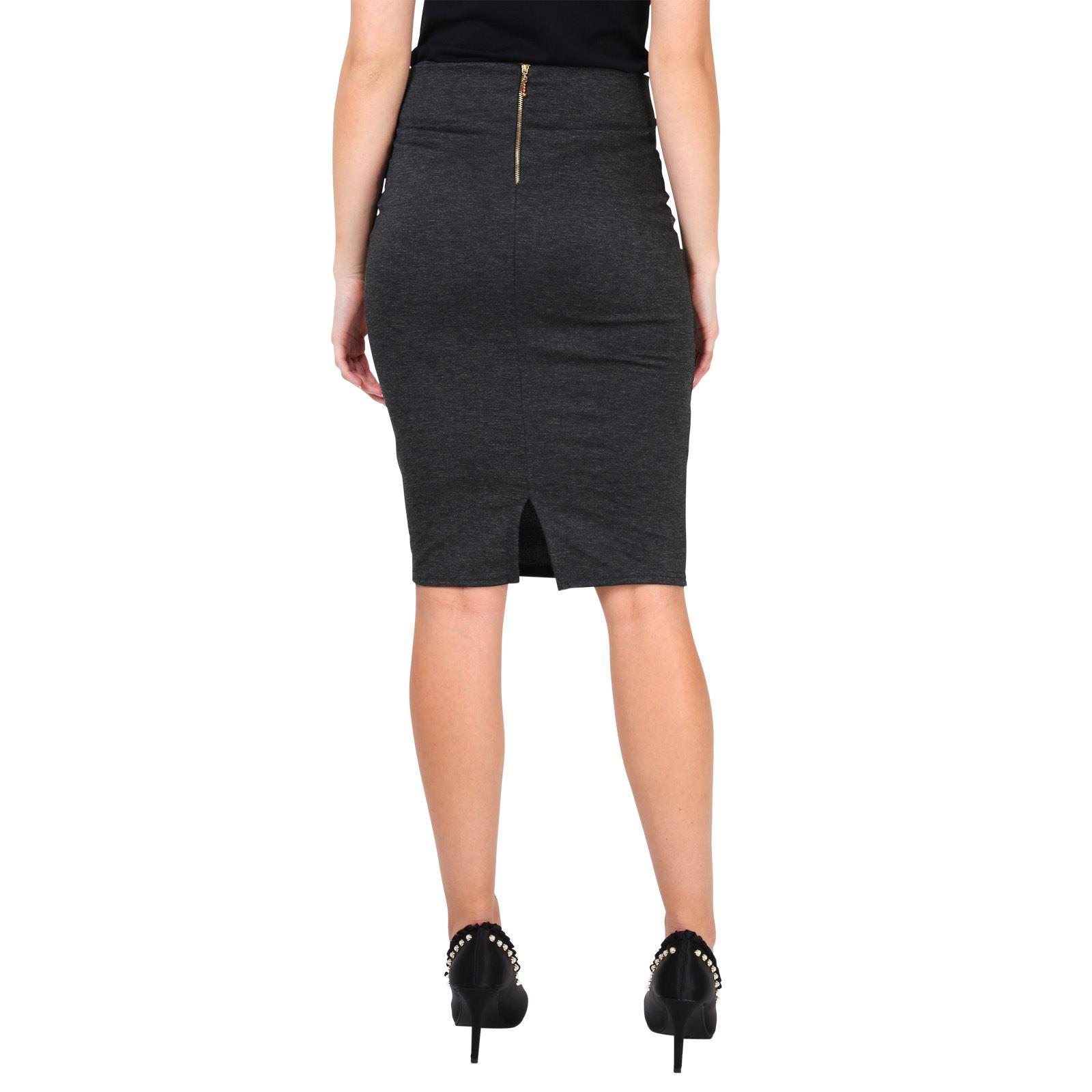 8c15e4b8f9008 Details zu Damen Knielanger Rock Business Kleidung Eleganter Bleistiftrock  Figurbetont