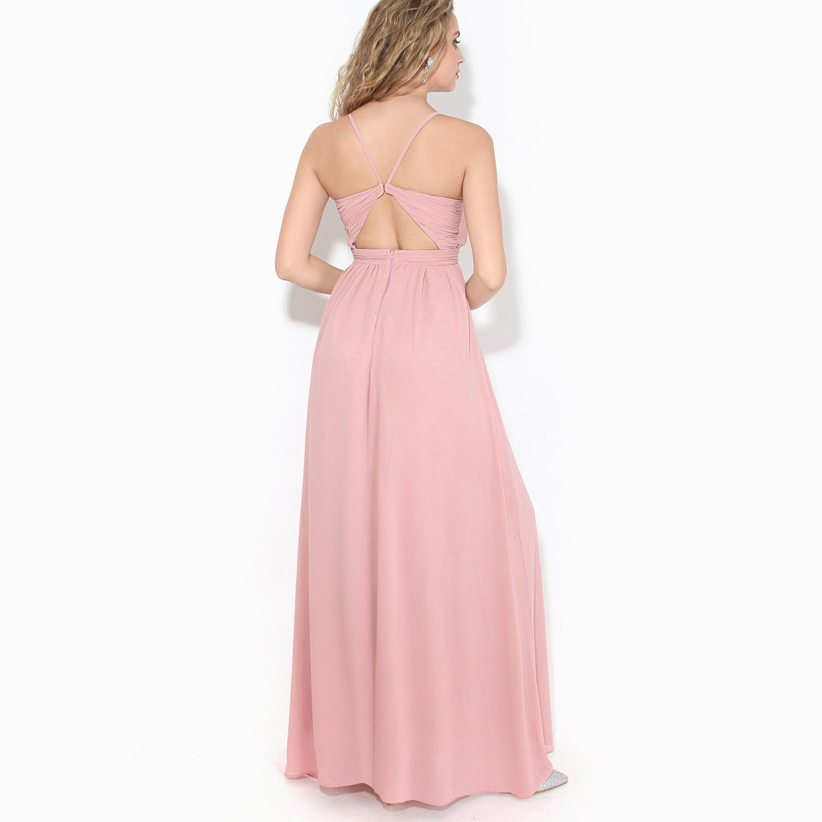 Womens-Ladies-Strappy-Maxi-Dress-Formal-Wedding-Evening-Party-Ball-Gown-Cocktail thumbnail 4